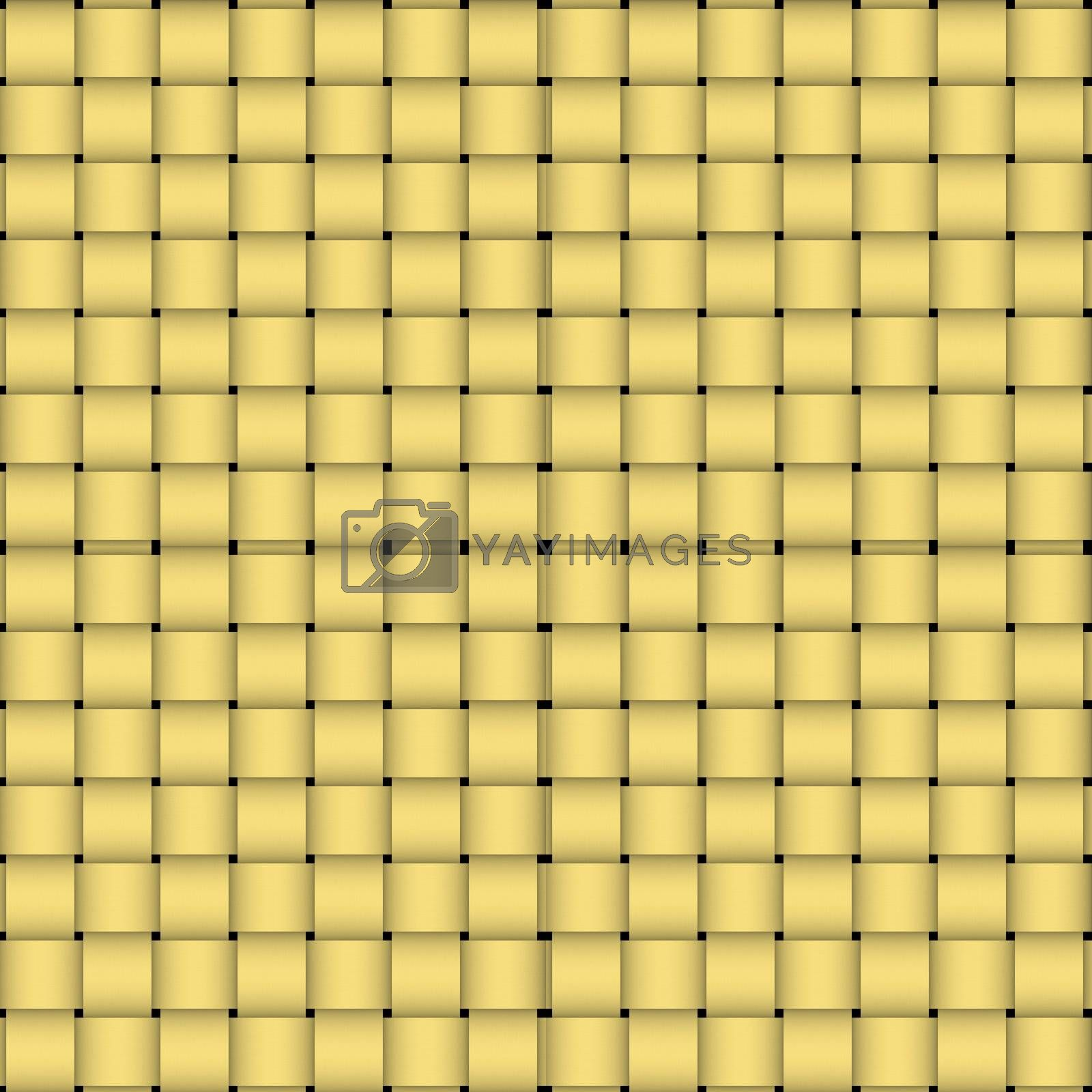 A high-resolution woven basket or wicker texture that can be used as a pattern and tiled seamlessly.