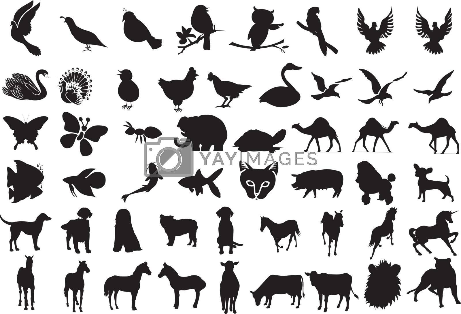 Animal Silhouettes by basheeradesigns