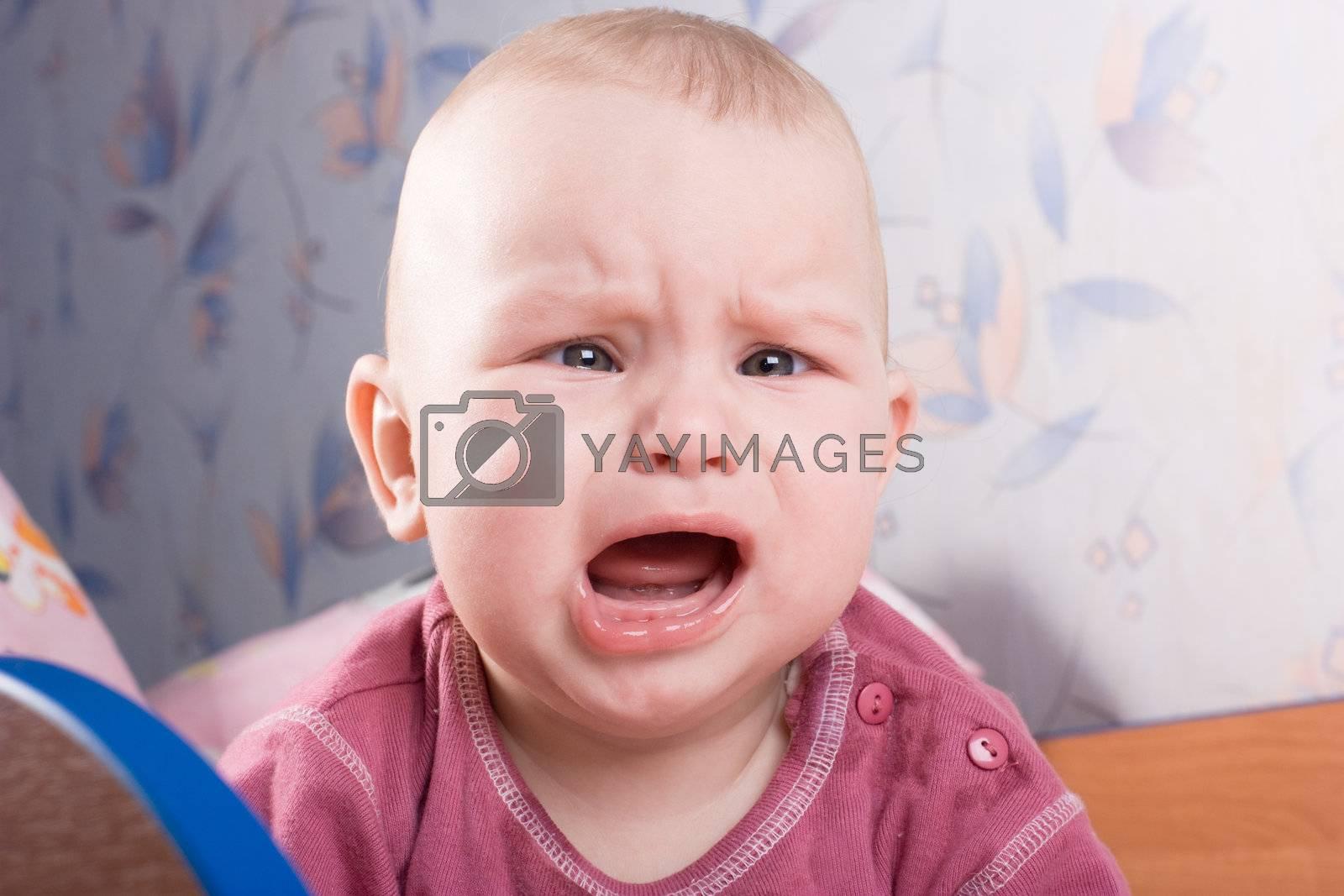 Crying baby boy stock photo. Image of child, chinese