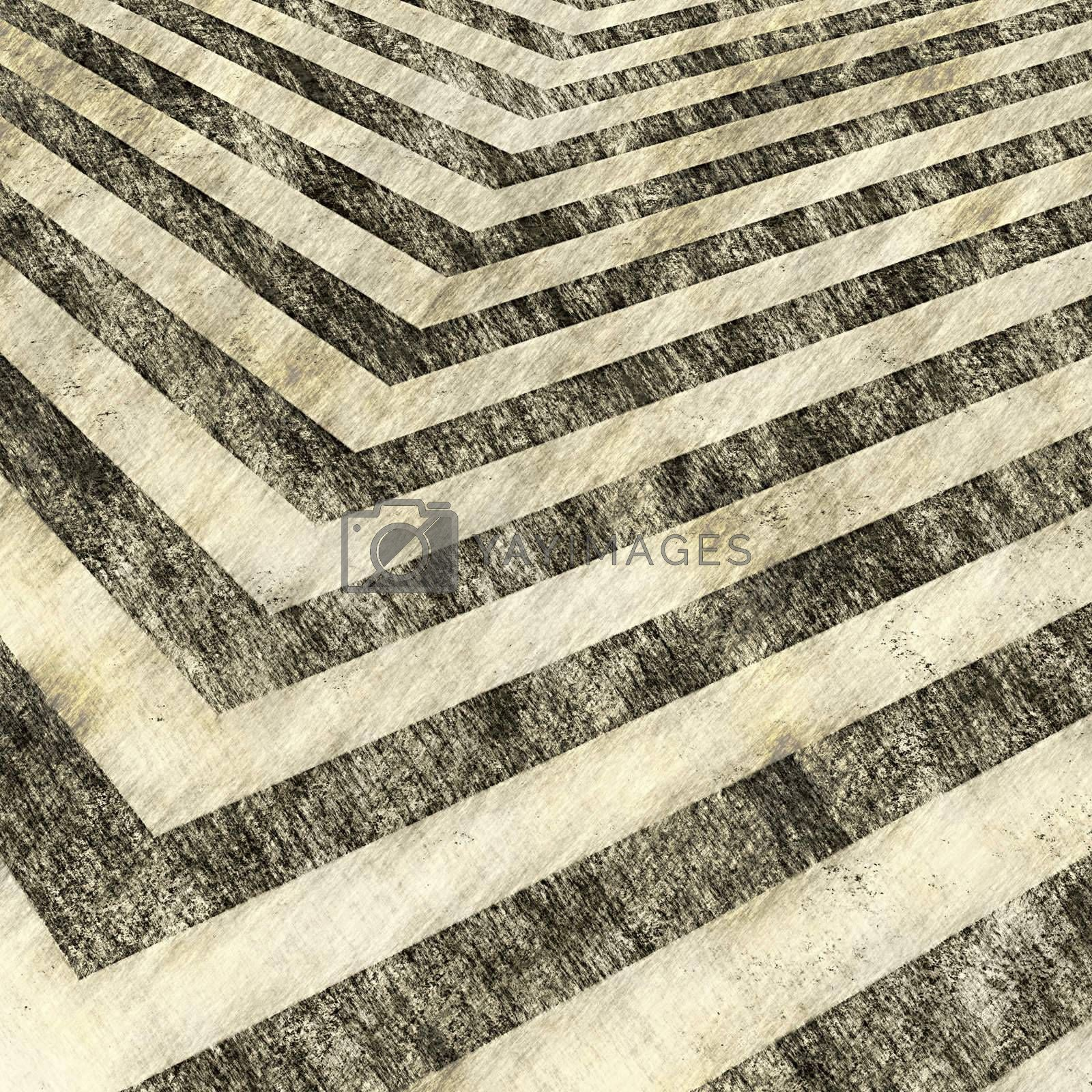 A sepia toned hazard stripes background with an aged vintage texture.