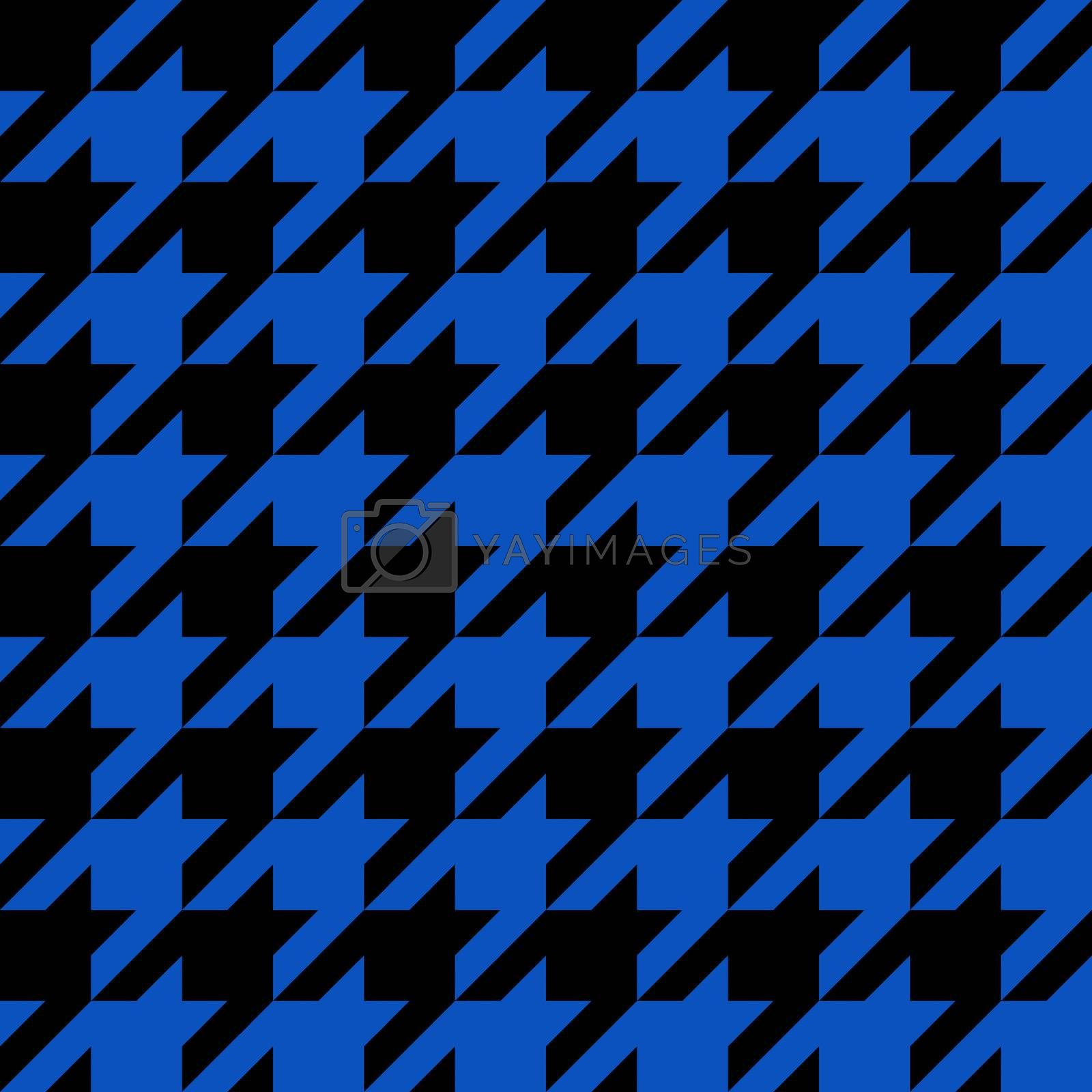Black and blue seamless houndstooth pattern or texture as found in many popular fashion fabrics.