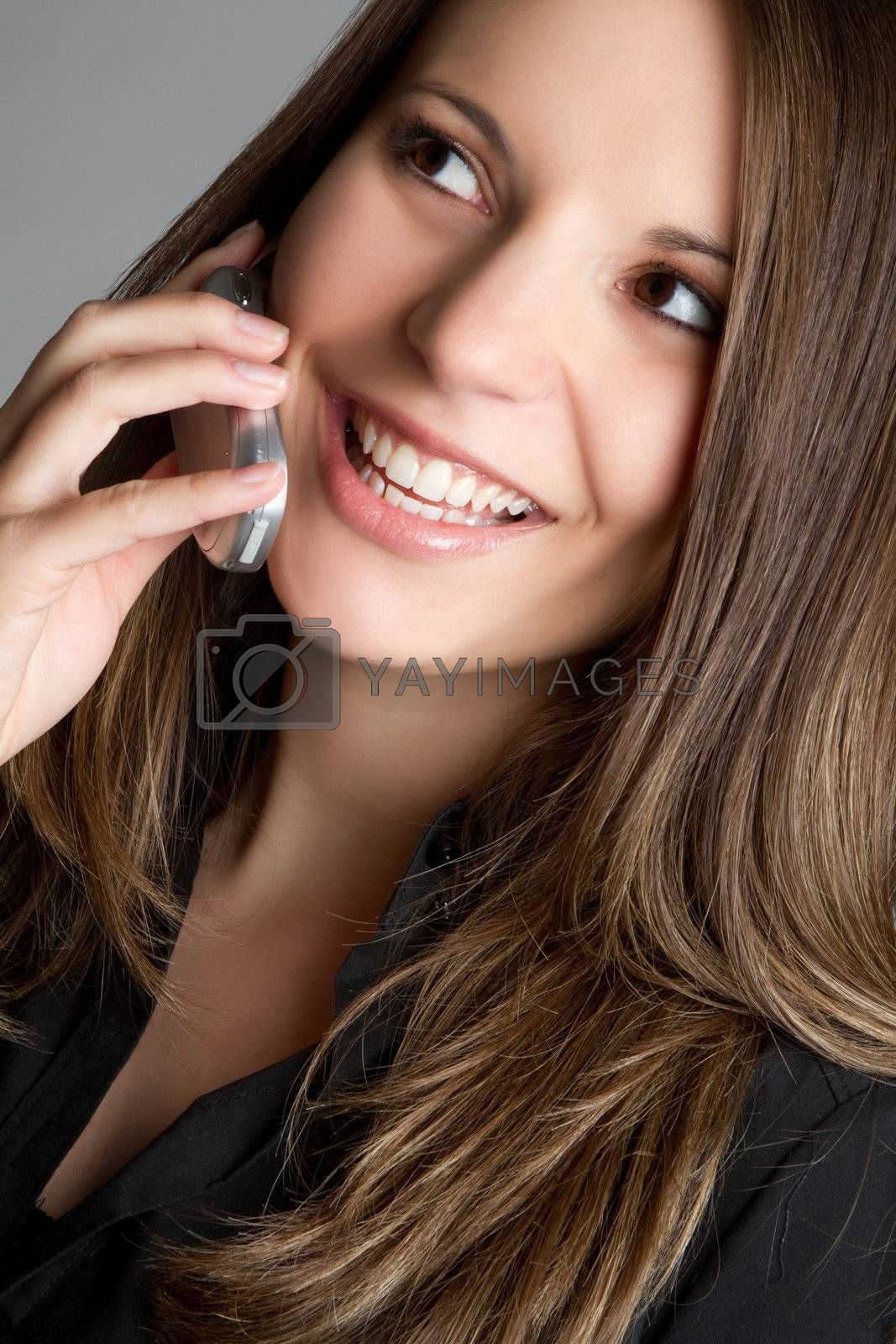 Young phone woman talking