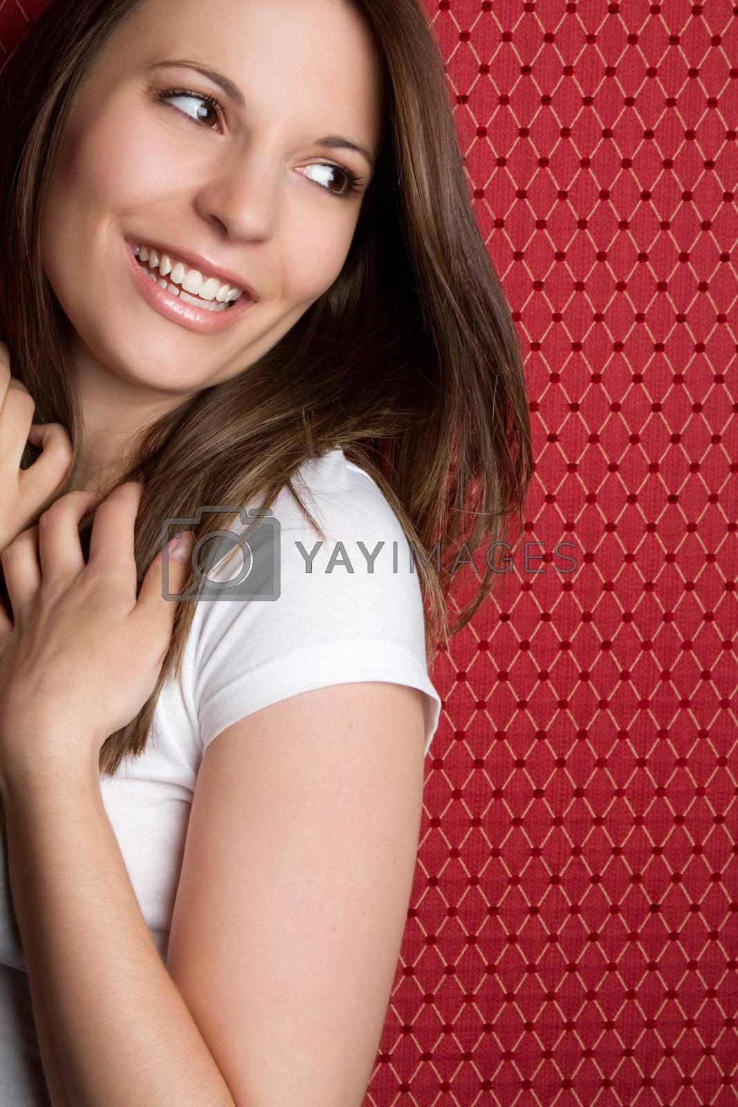 Pretty laughing teen girl
