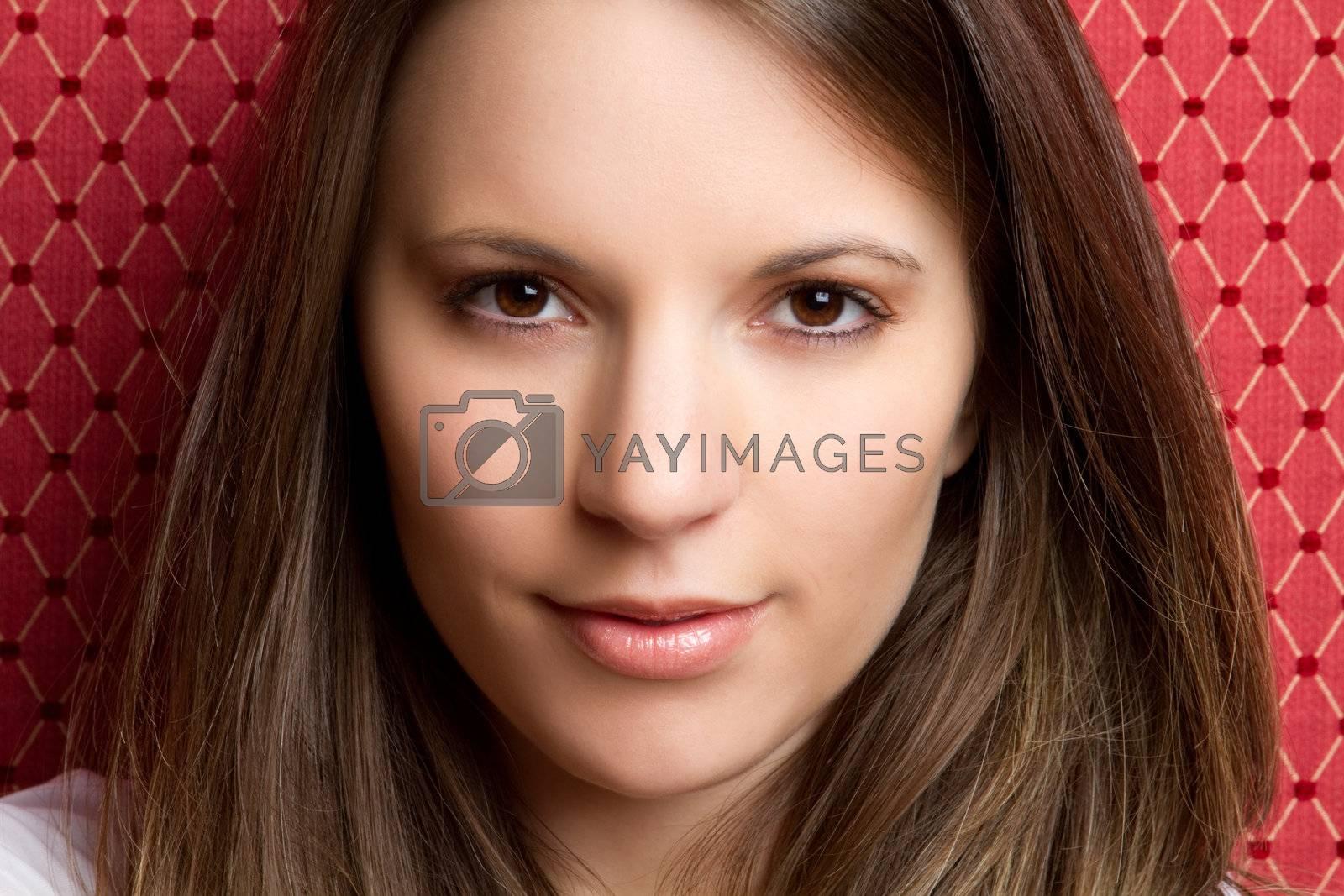 Beautiful smiling portrait of woman