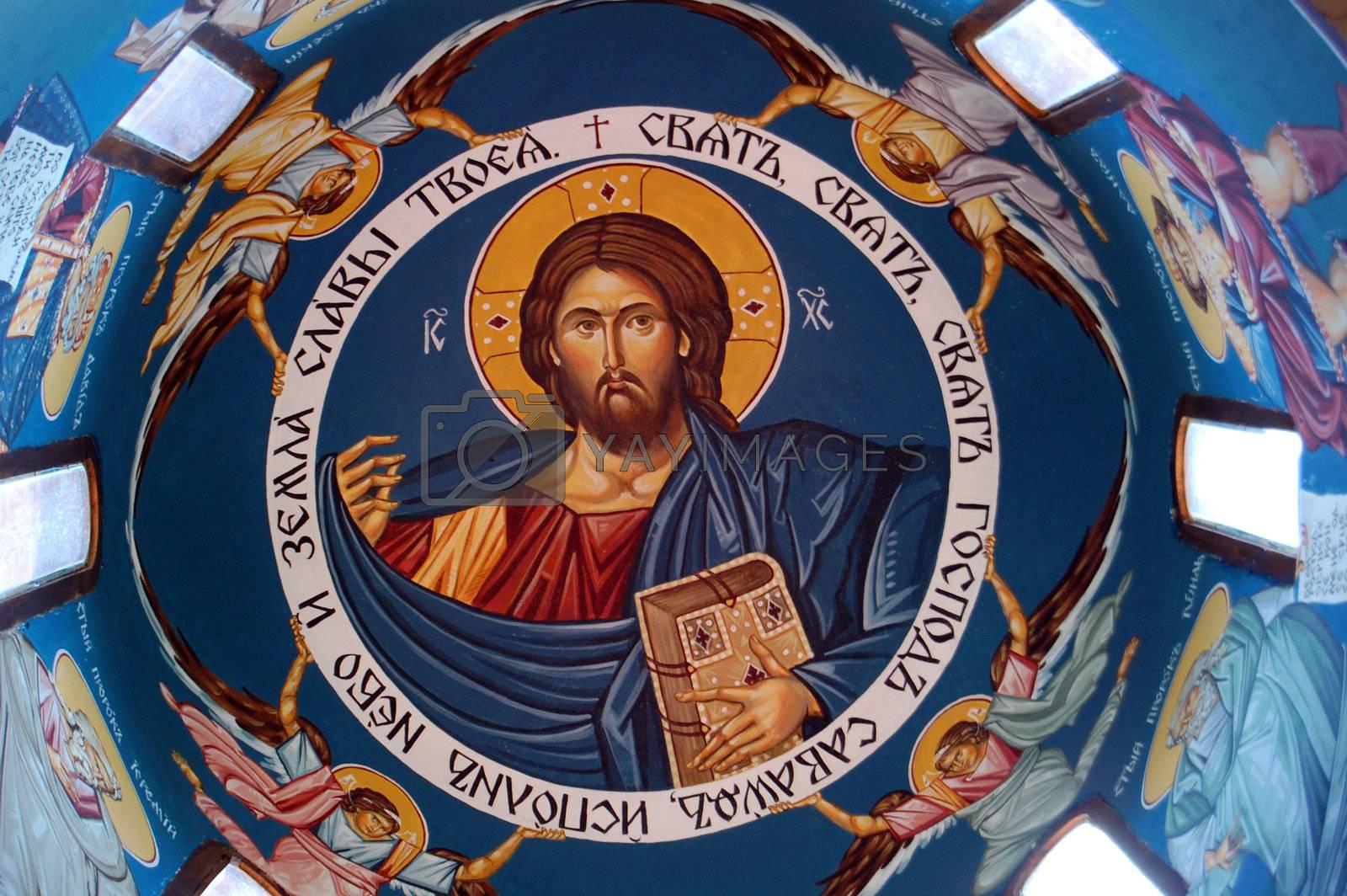 fresoe of jesus