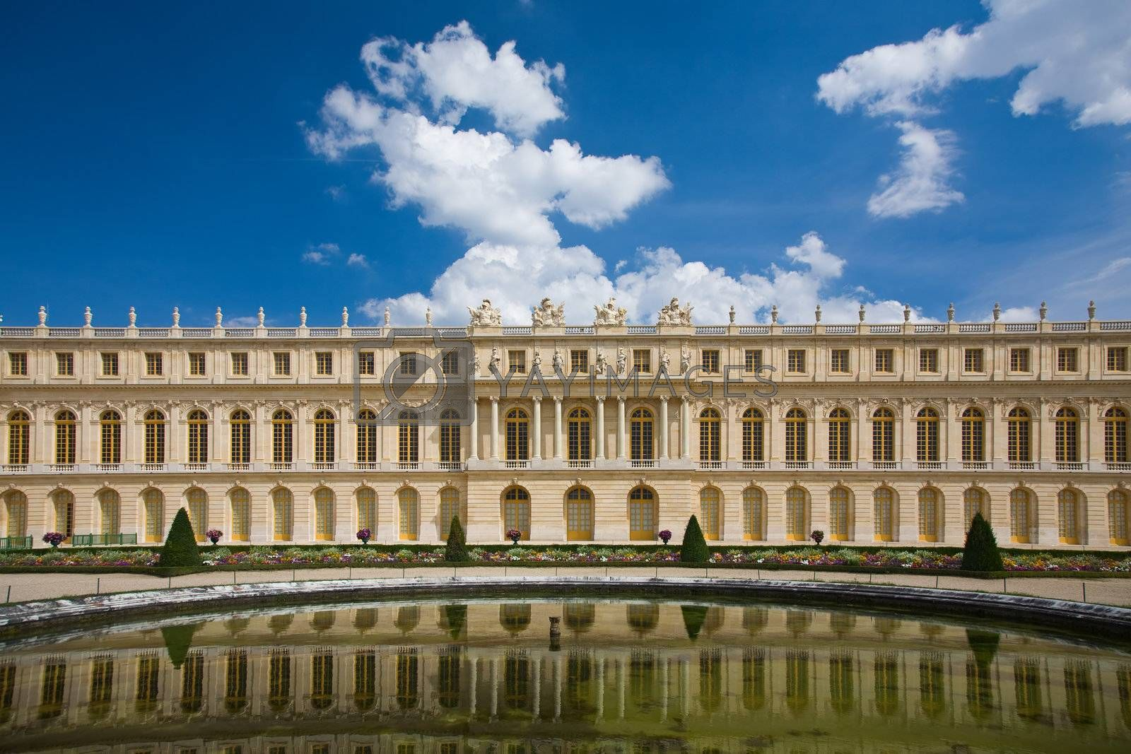 View over the Versailles Palace, in Paris, France.