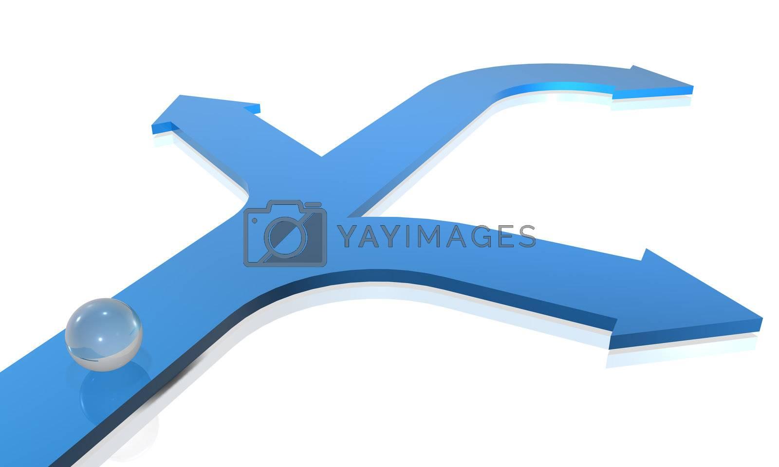 3D Render. Business concept: Choices.