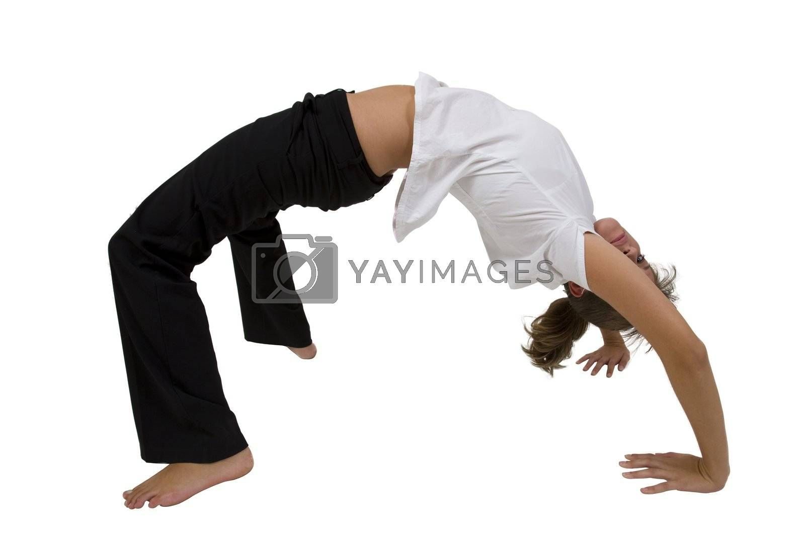 bridge stretch yoga in studio