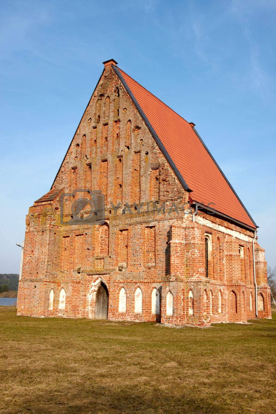 Early Gothic church, built in the sixteenth century at the end. Lithuania