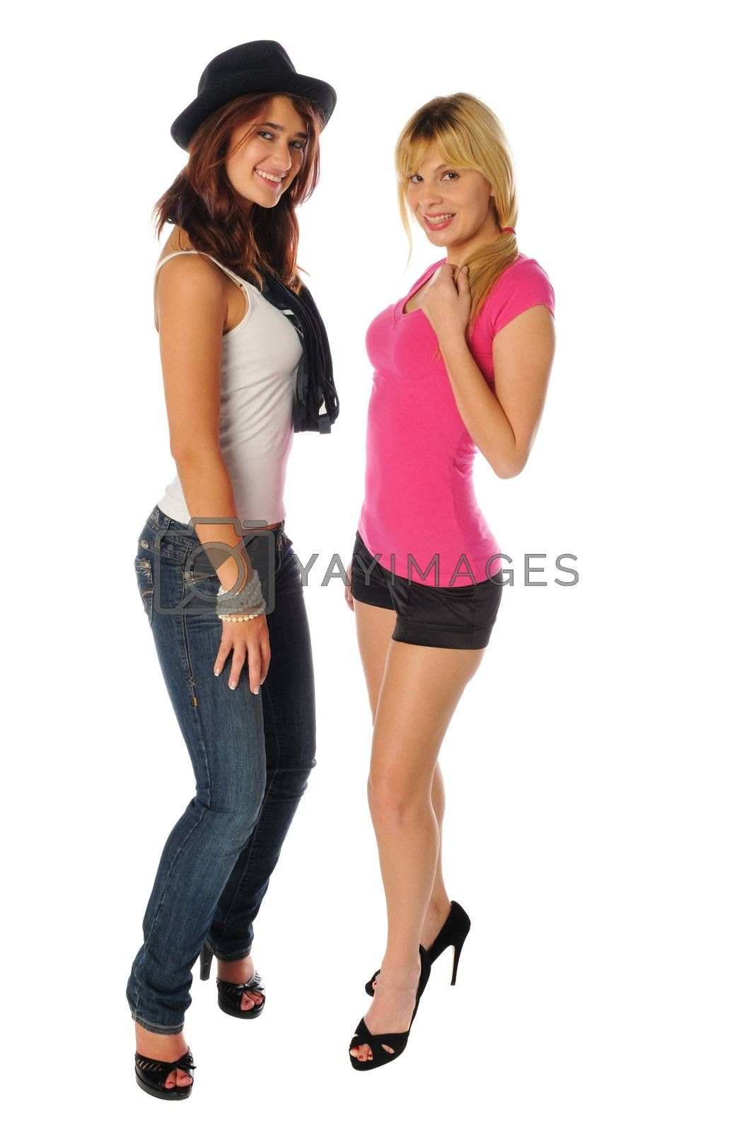 Royalty free image of two friends posing together by PDImages