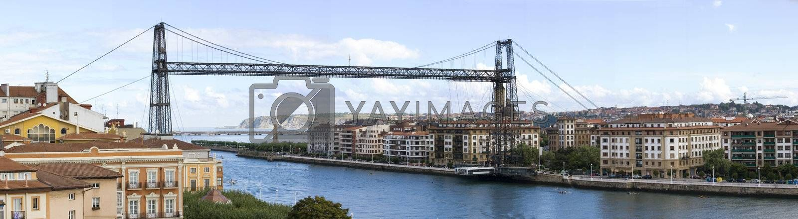 hanging bridge of portugalete is the oldest hanging bridge of the world and it is unesco patrimony of humanity