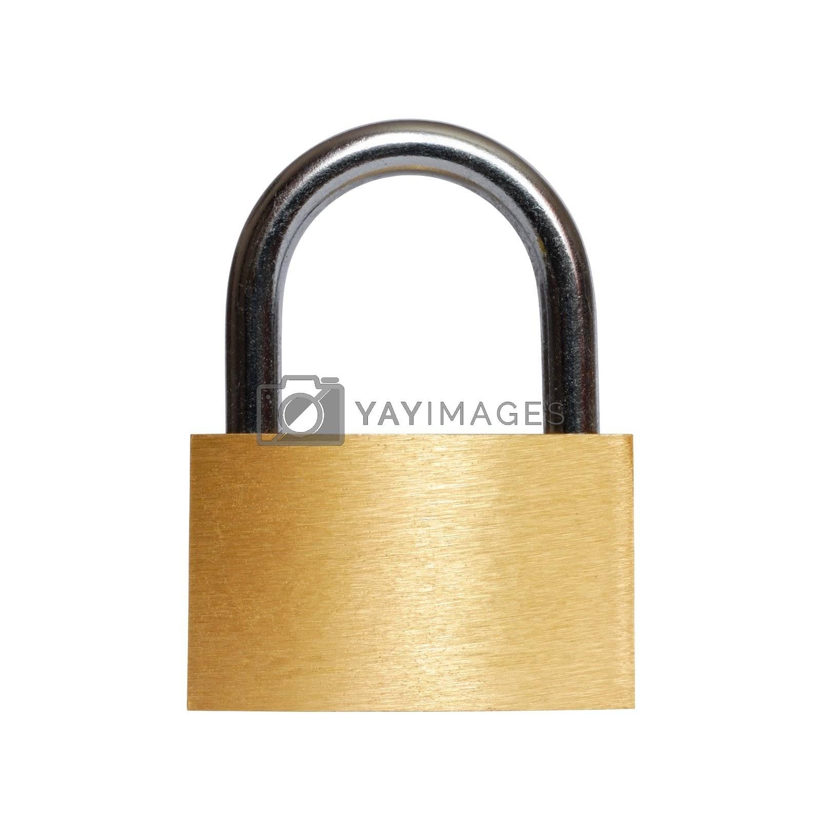 Isolated closed padlock