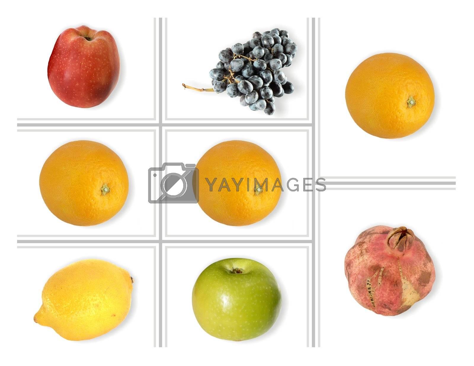 fruits like in slot machine