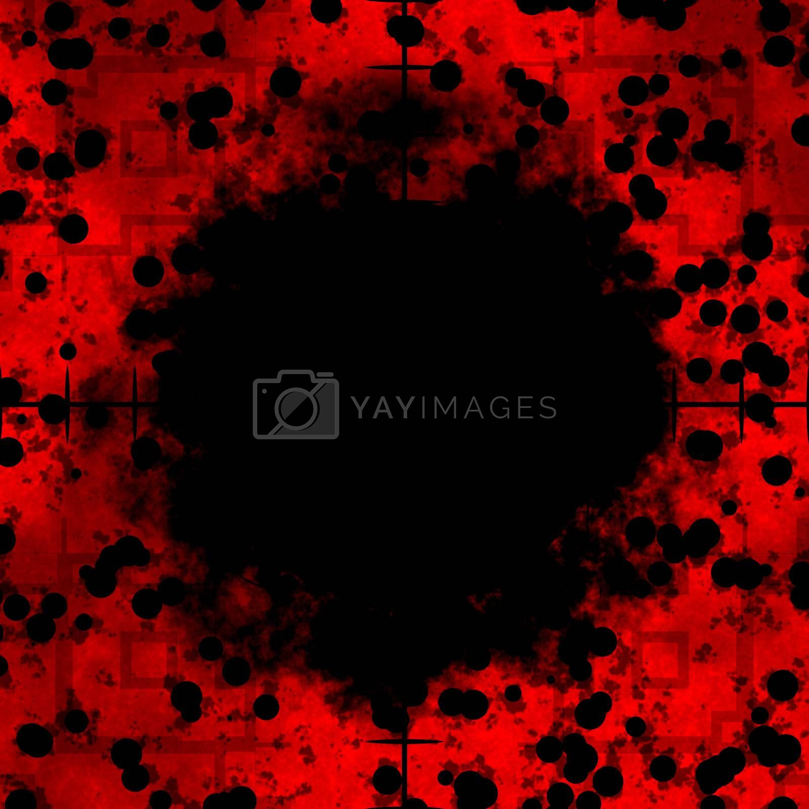 Red cells frame or border with sniper rifle crosshairs with a black center area.