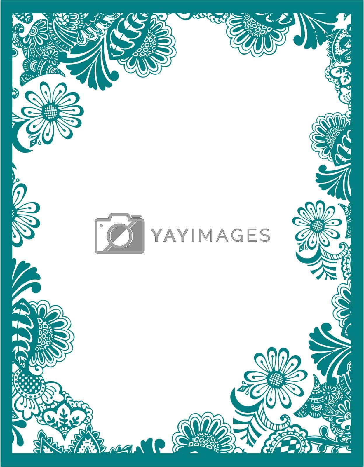 paisley flower border