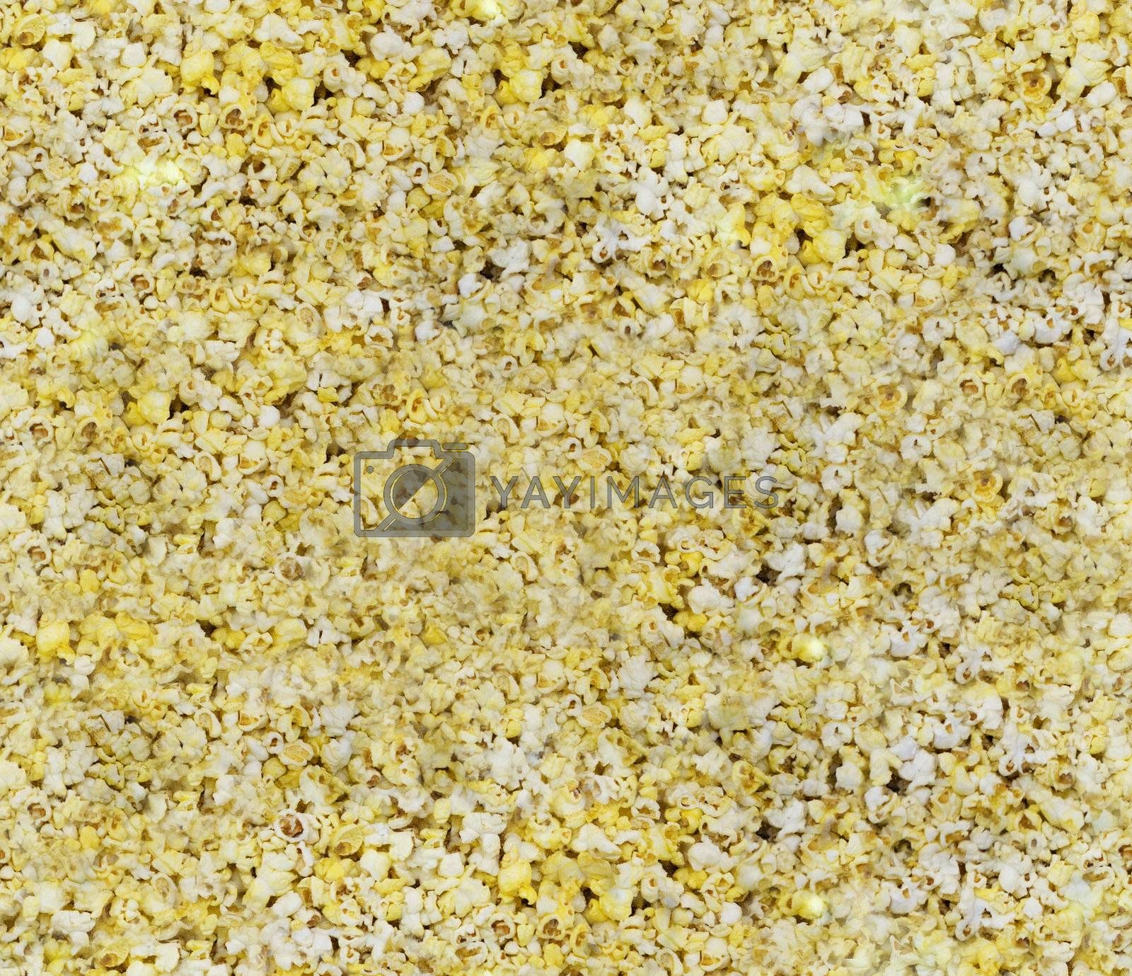 Seamless Popcorn Background by leaf