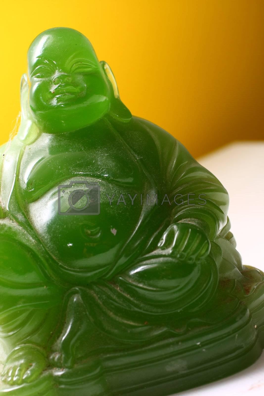 Jade Fat Laughing Buddha by dersankt