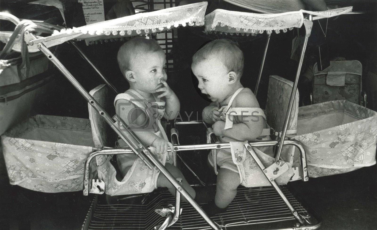 Twins at a twin festival in Little Rock, Arkansas in 1975