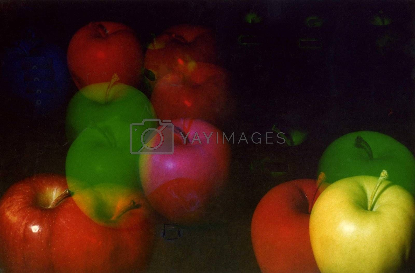 Apples shot with colored filters by athomedad