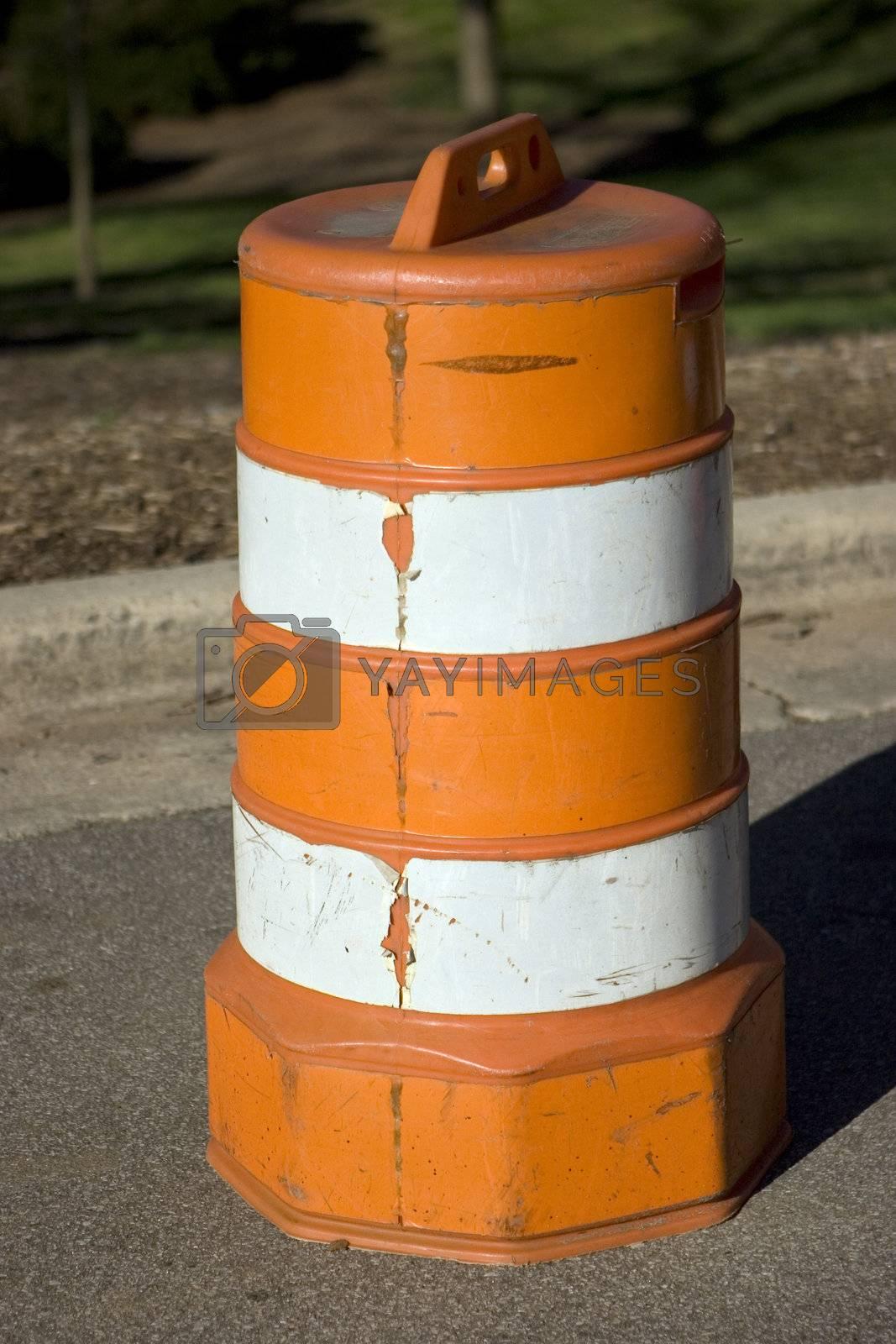 Traffic Barrel Side Profile by jclardy