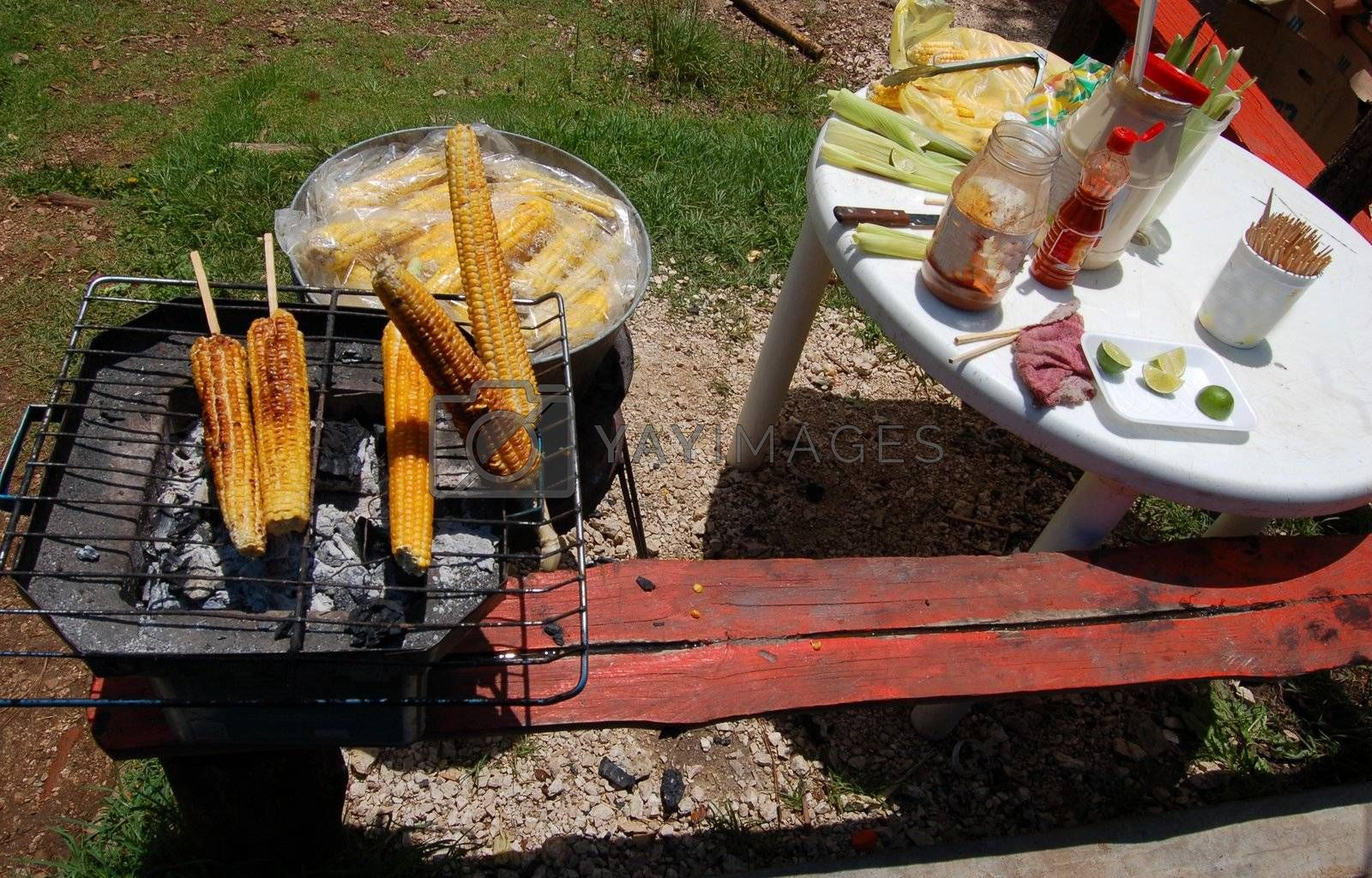 Elote and Table by jorgeinthewater