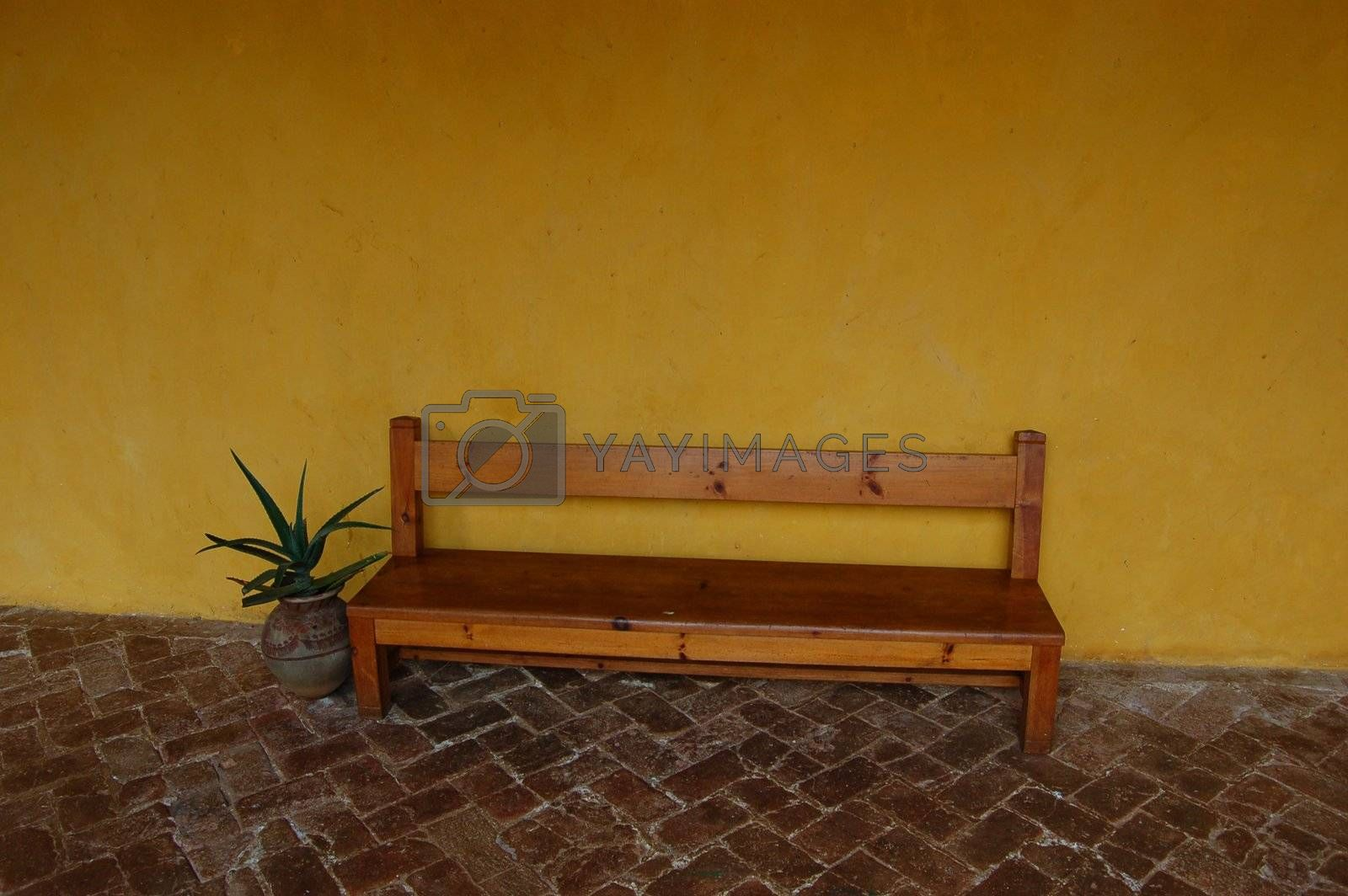 Bench in Convent by jorgeinthewater