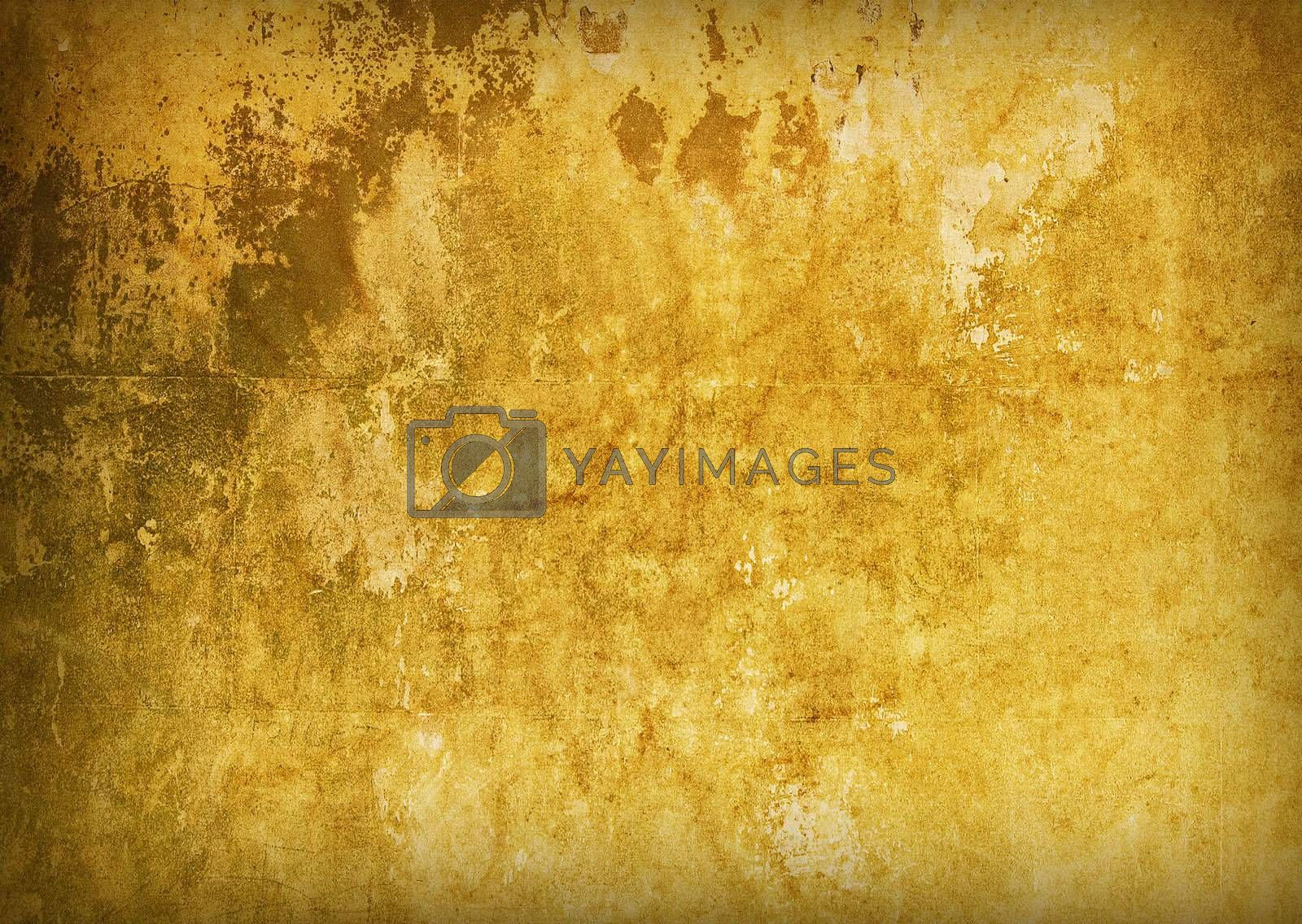 Golden grungy background by tuku