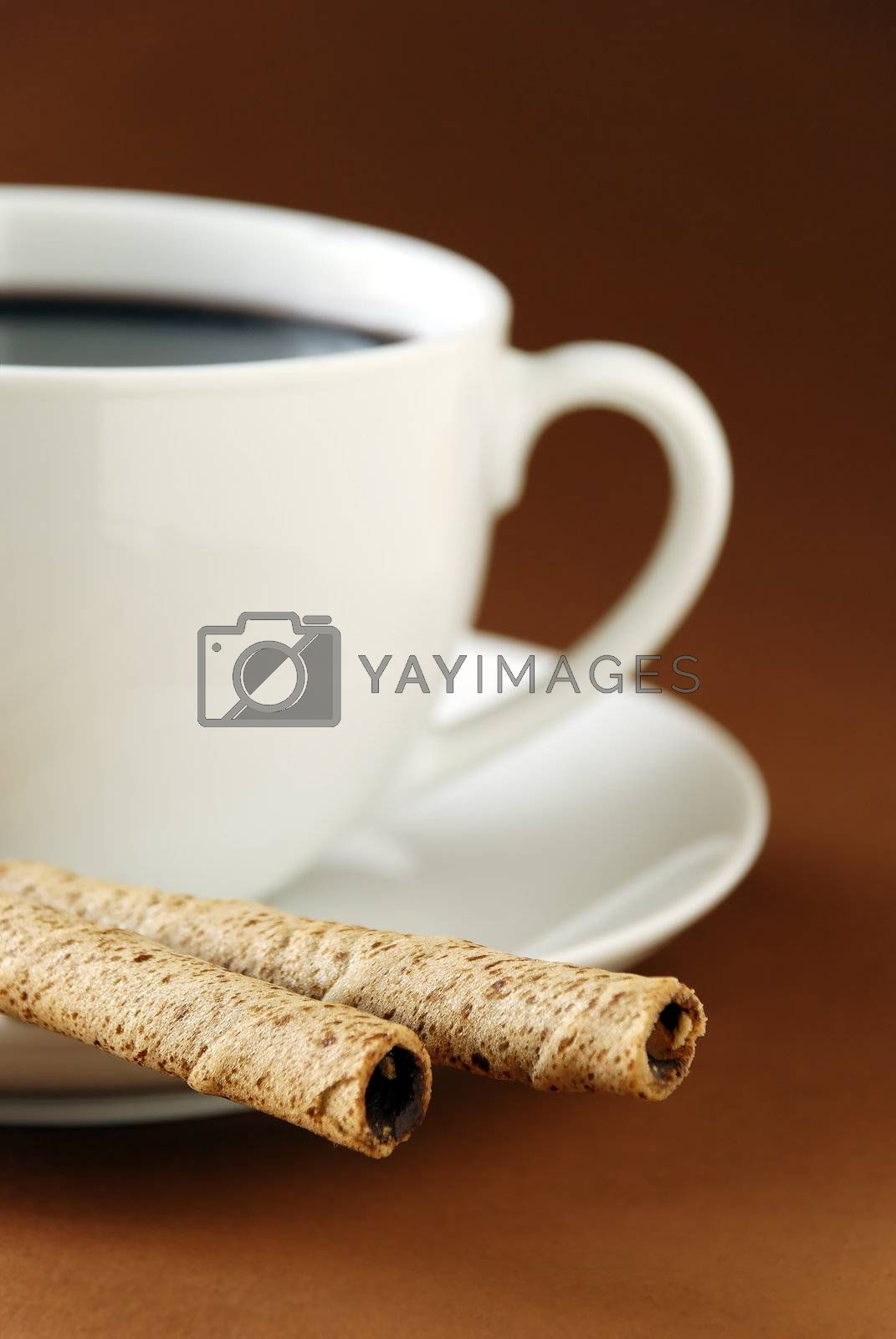 black coffee and wafers by massman