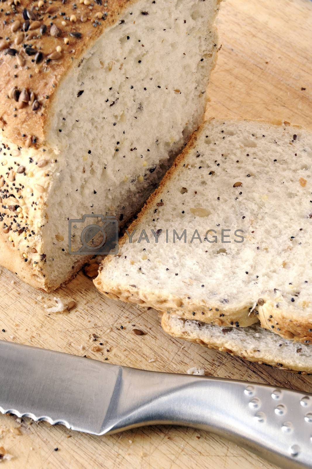 sliced seeded bread by massman