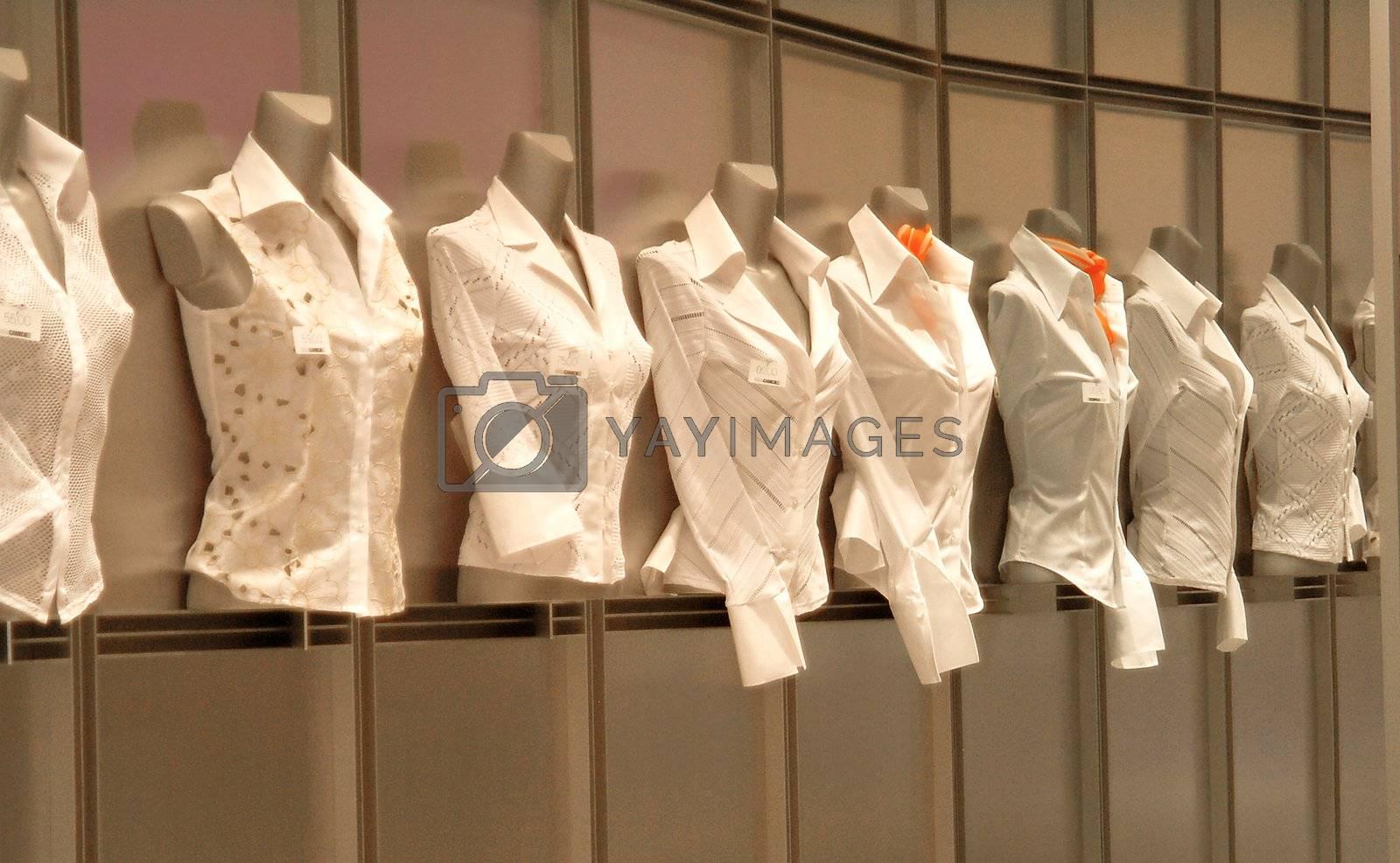 Blusen im Schaufenster | blouses in shopwindow by fotofritz