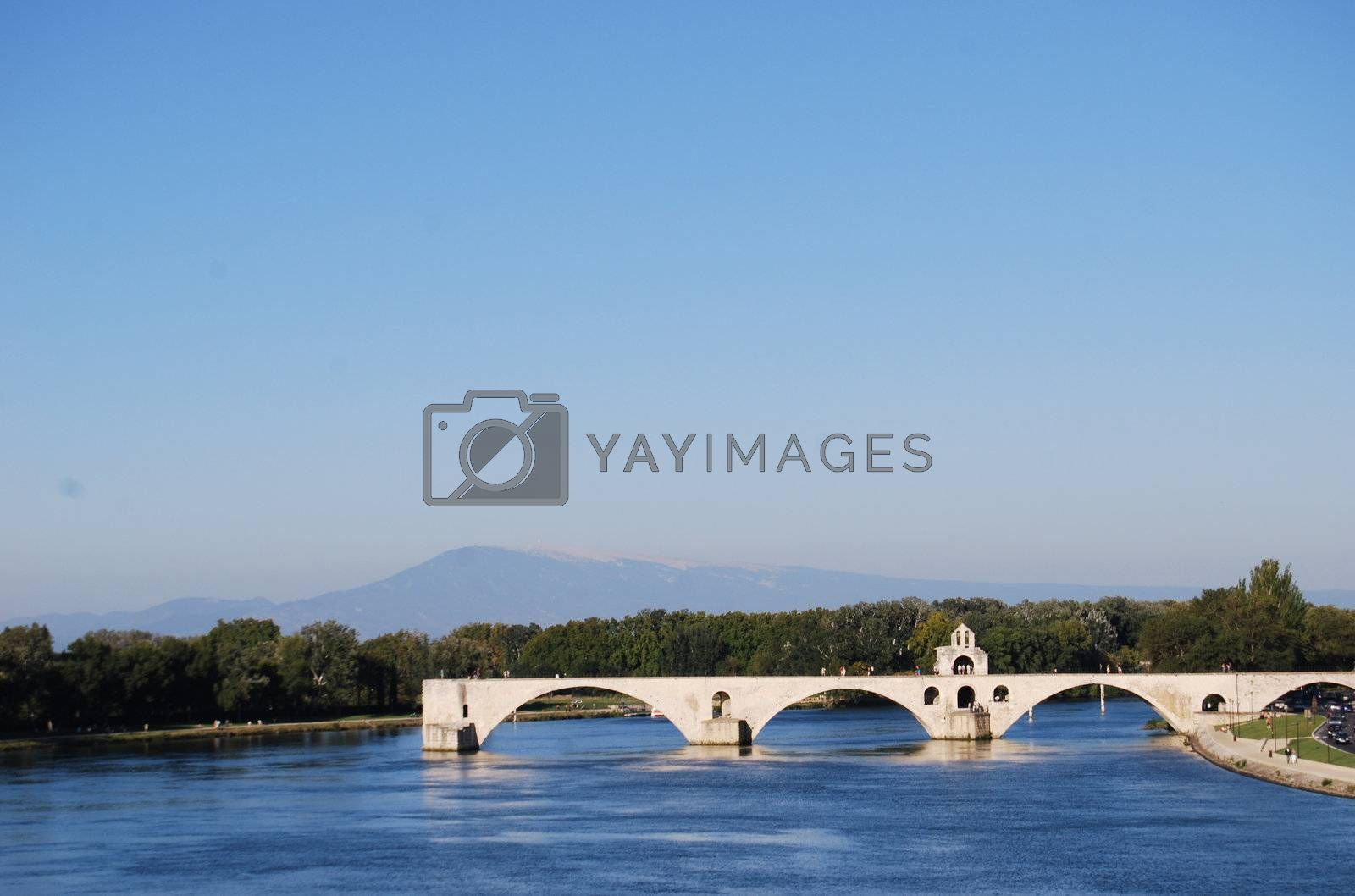 Pont d Avignon by windmill