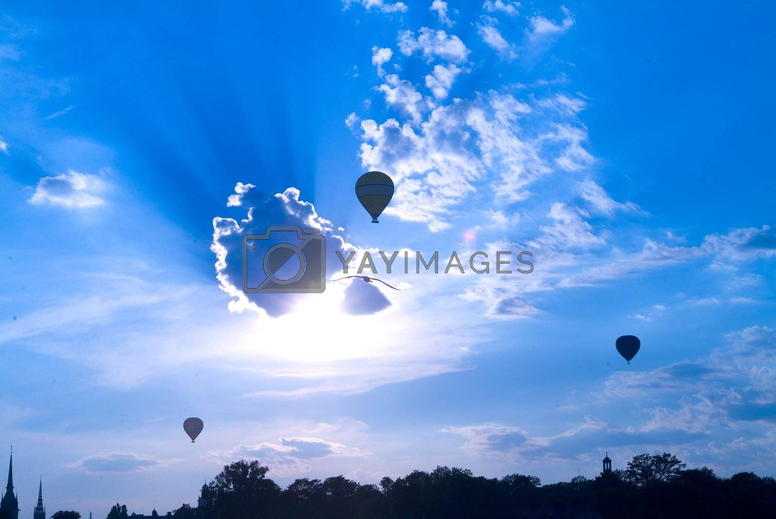 hei�luftballon in stockholm | balloon in stockholm by fotofritz
