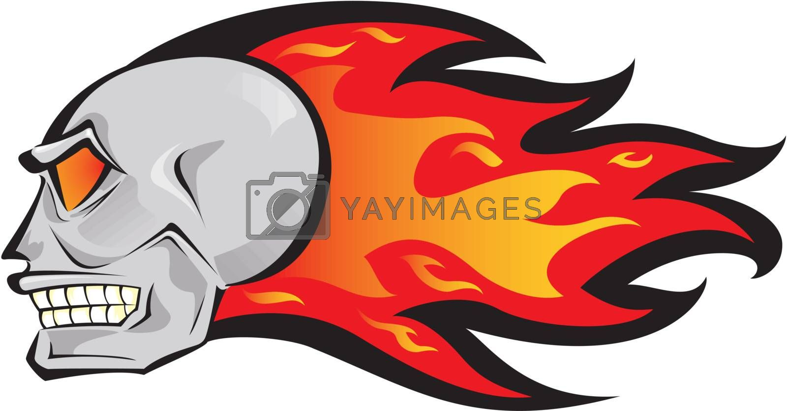 Fire skull by PauloResende