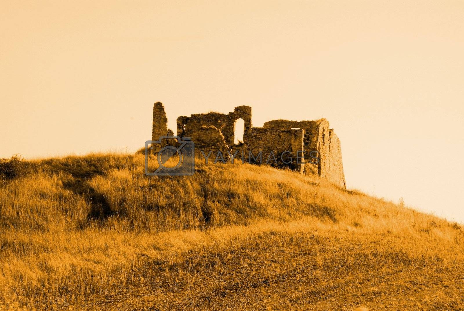ruin on hill
