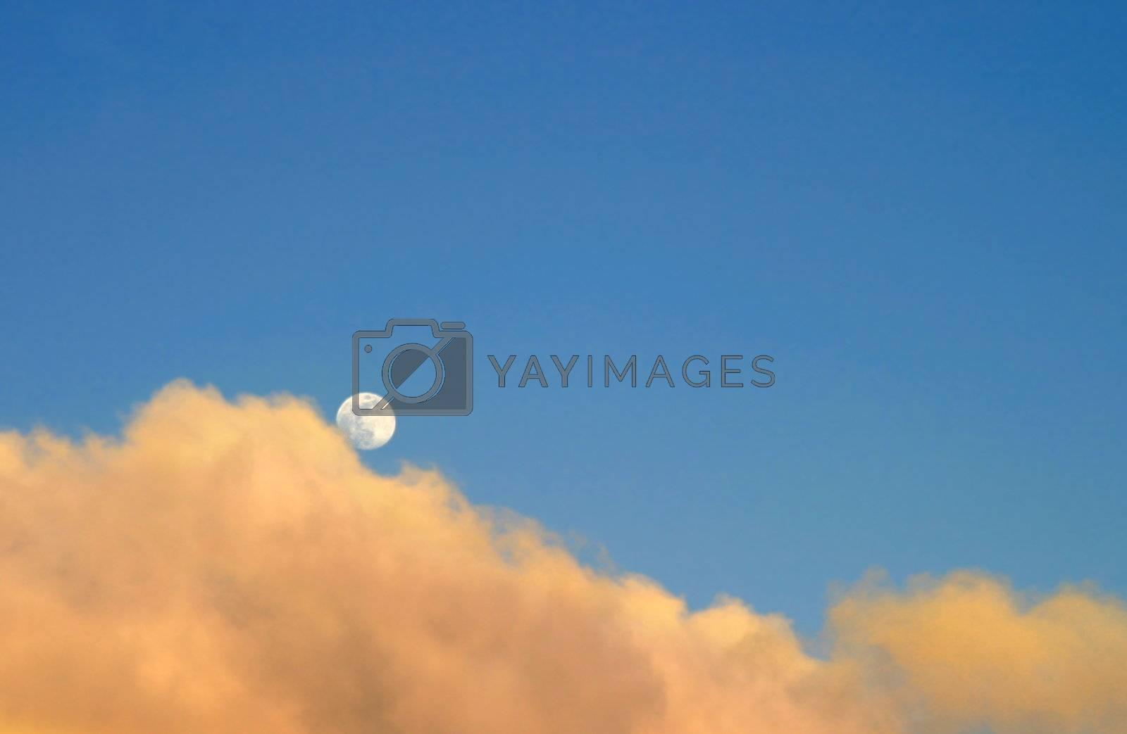 Moon At Sunset by hlehnerer