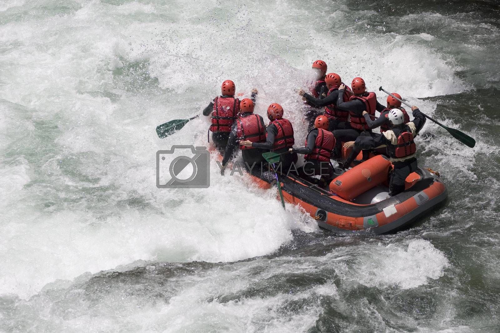 Whitewater rafting by ArtmannWitte
