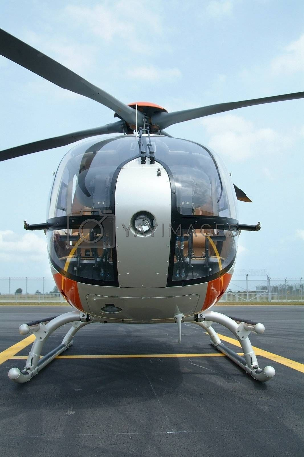 Helicopter, front view by epixx
