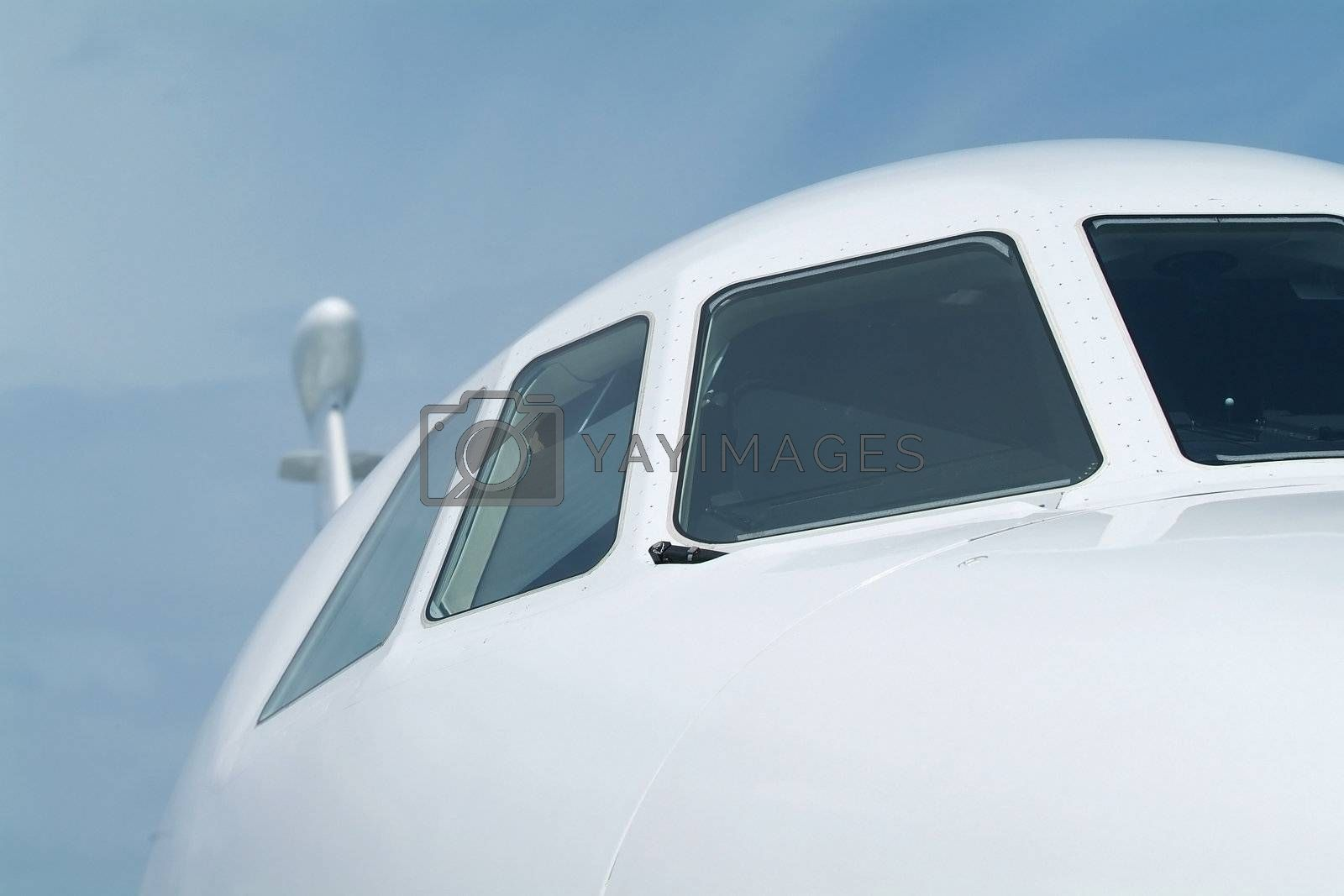 Front of business-jet by epixx