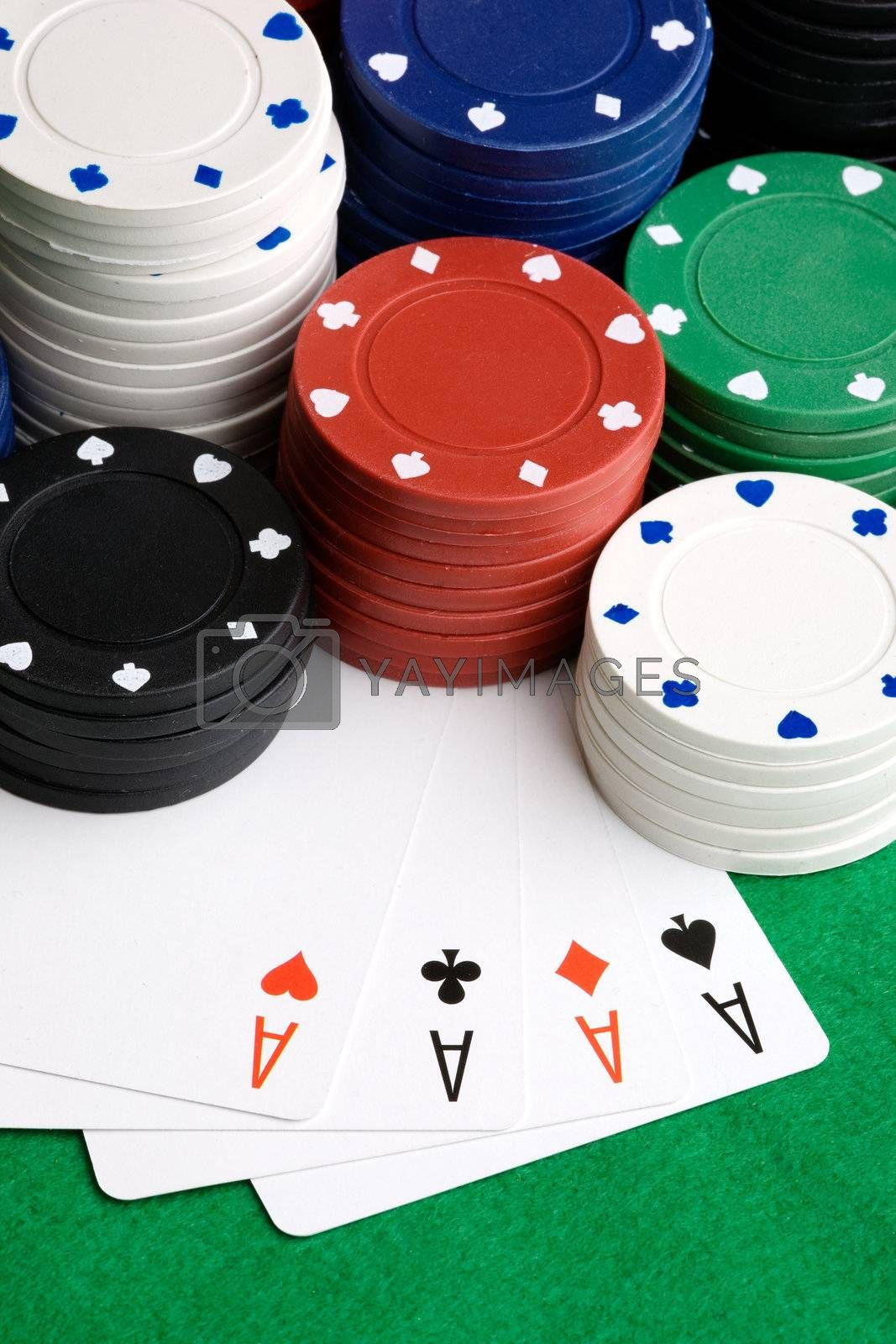 Four Aces in a poker hand
