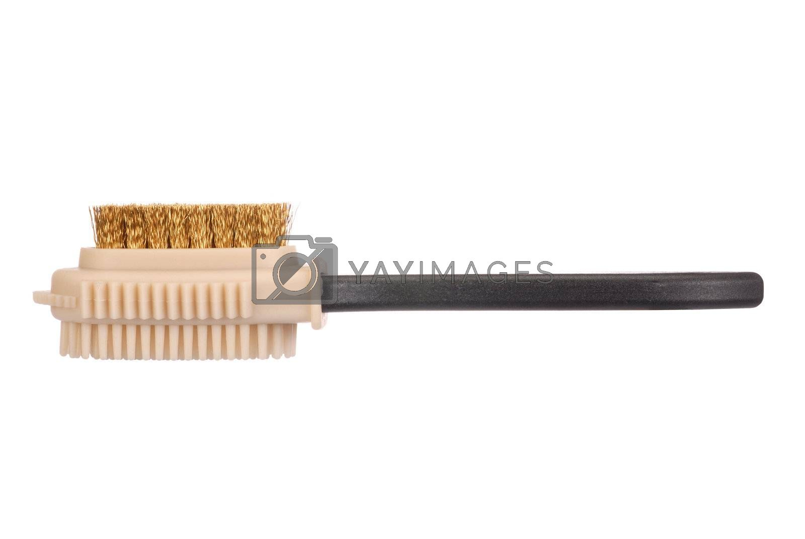 Brush for suede shoes isolated on white