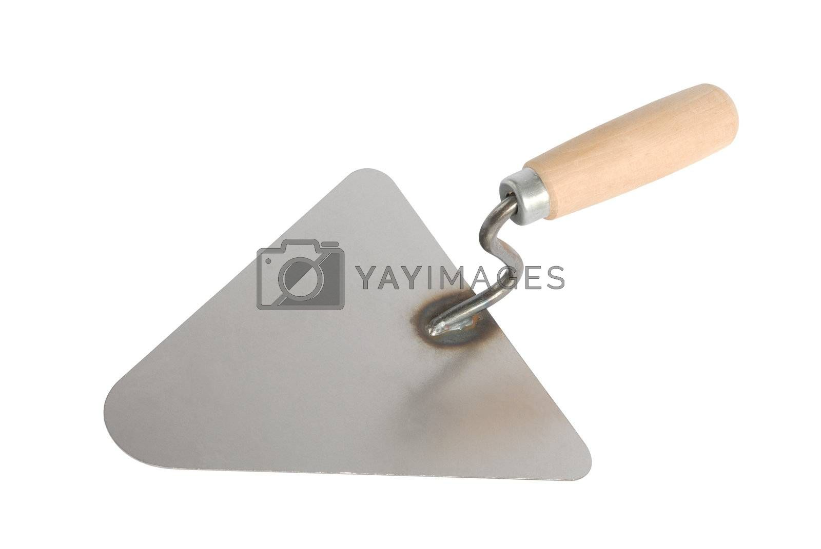 Bricklayer's trowel isolated on white background