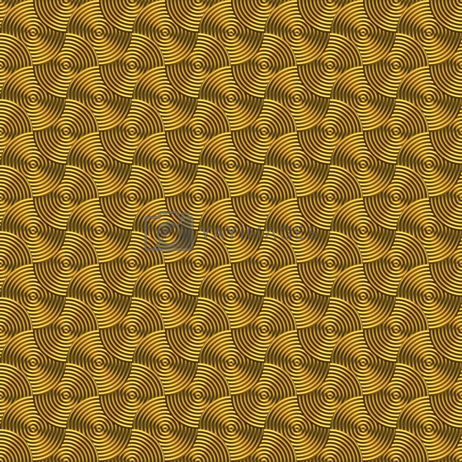 golden circles background, will tile seamlessly as a pattern
