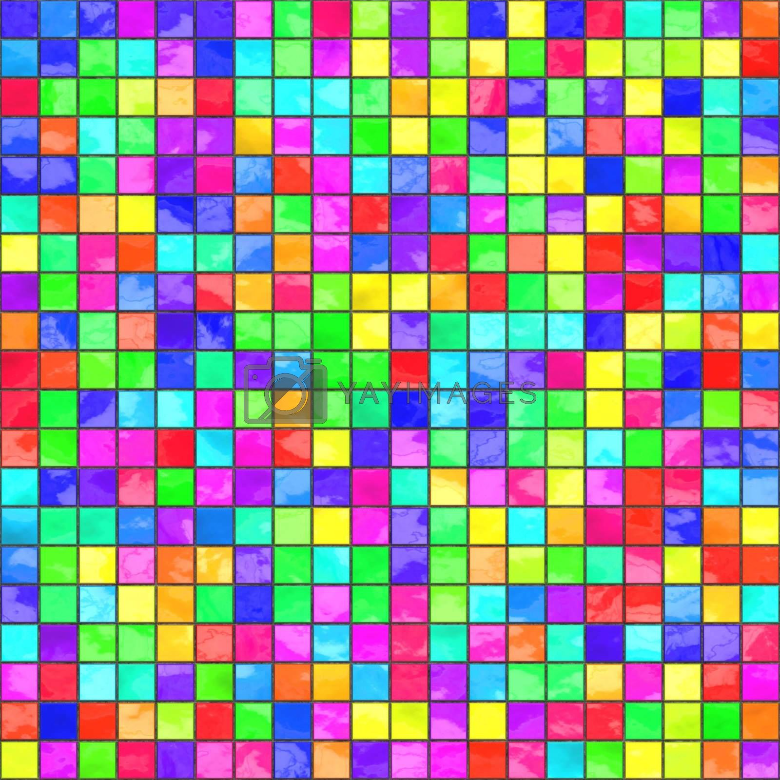 multicolored tiles by hospitalera
