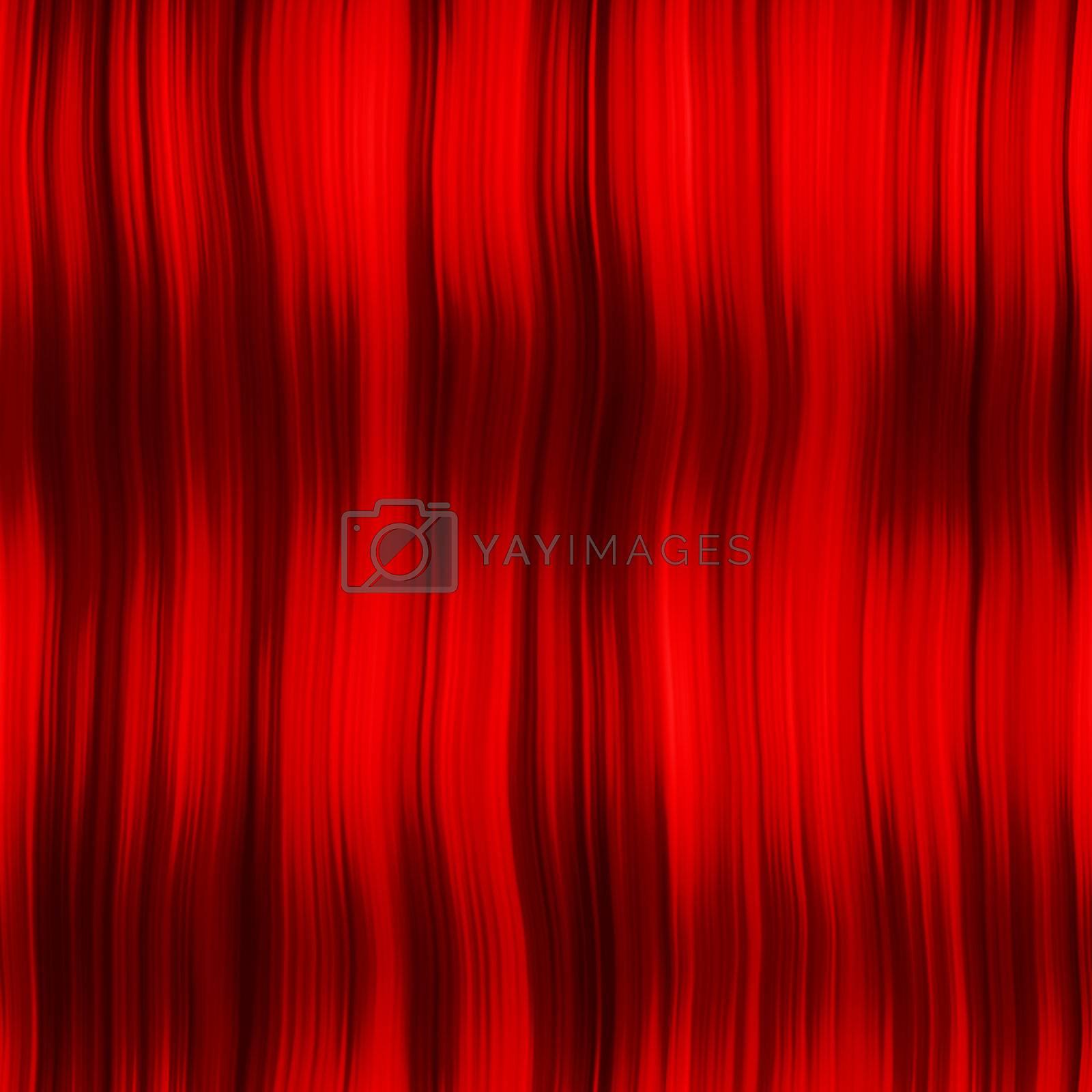 sl red hair curtain by hospitalera