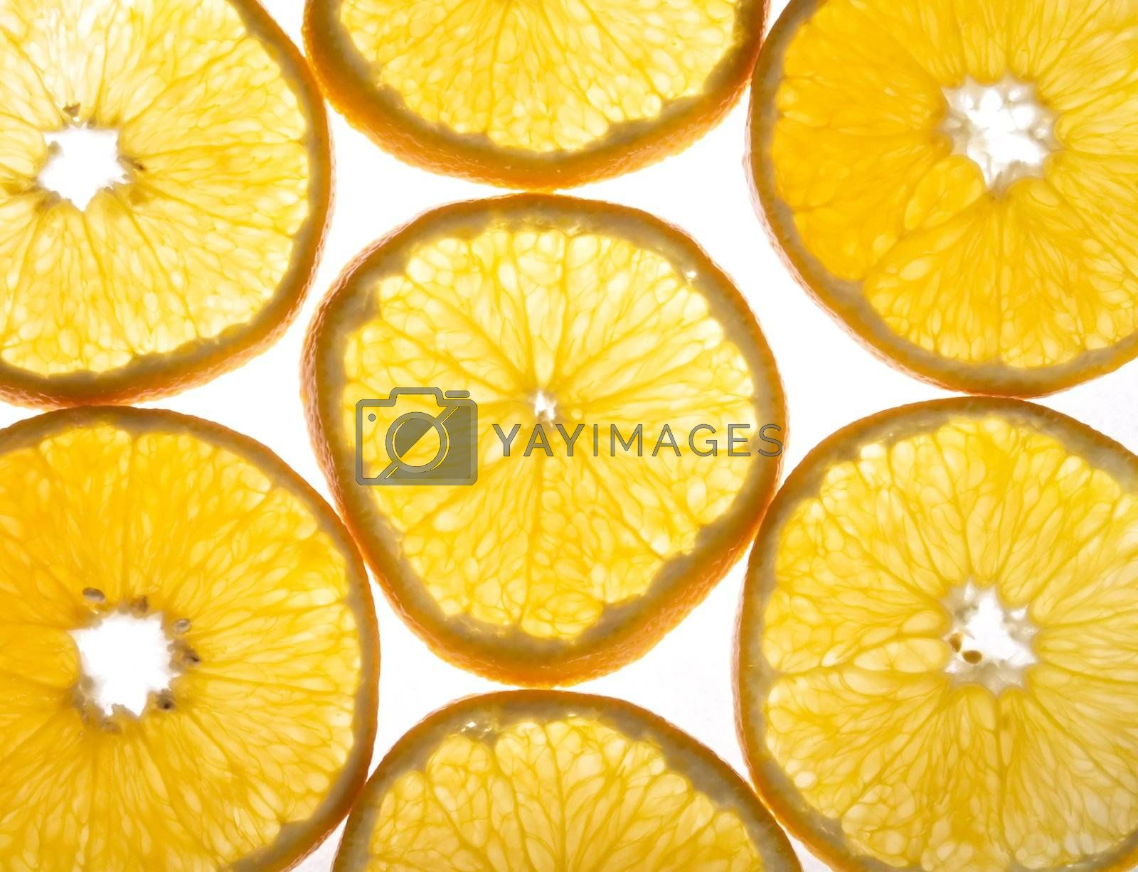 Orange background texture image over white