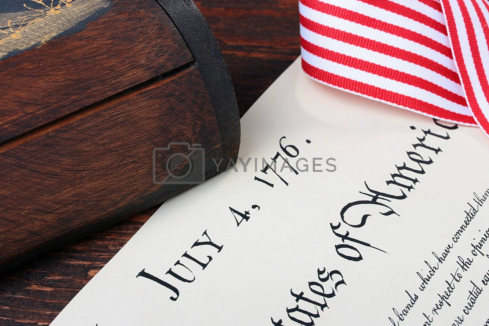 Celebrating of Day of Independence on July, 4th in the United States of America.
