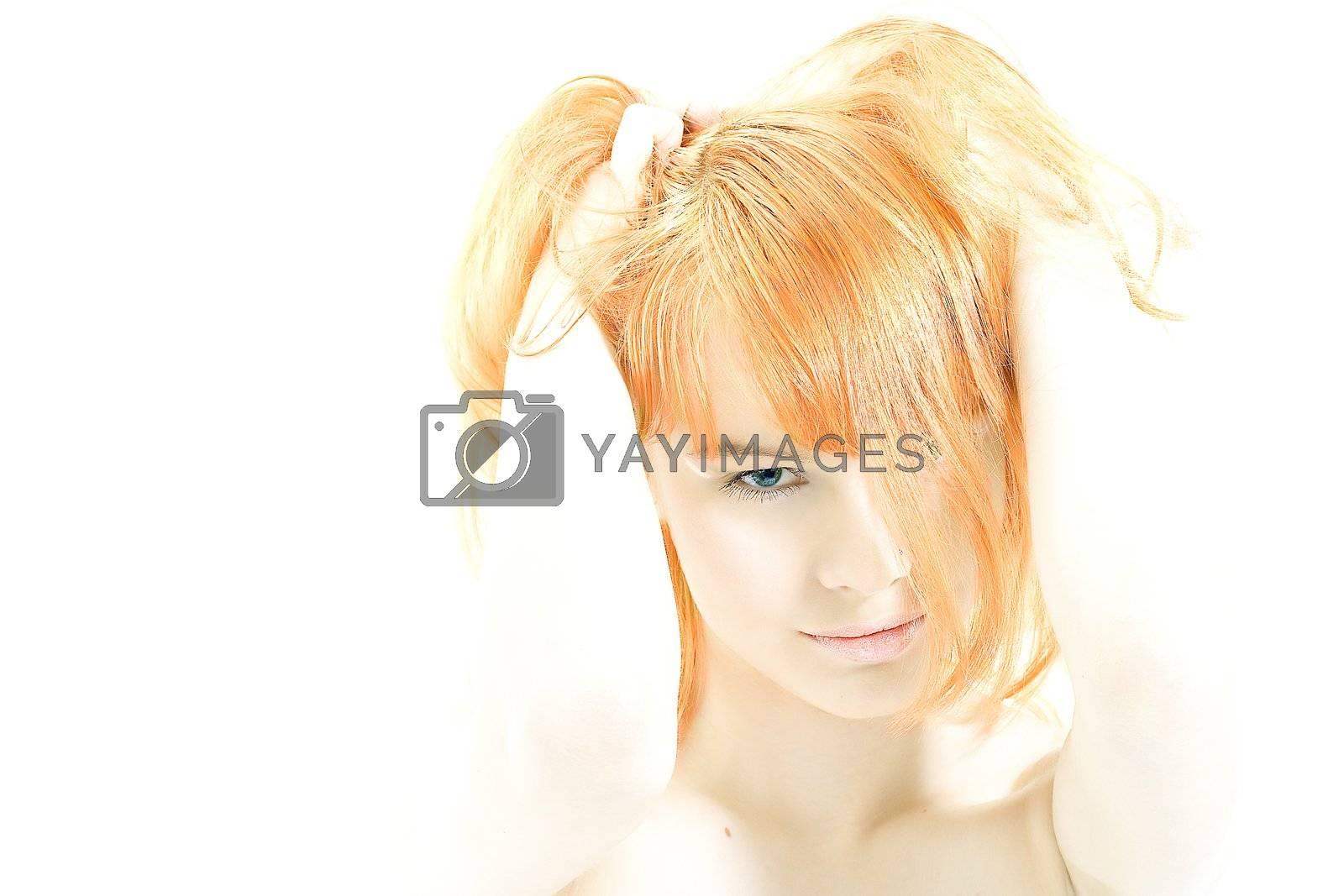 Hi-key redhead portrait