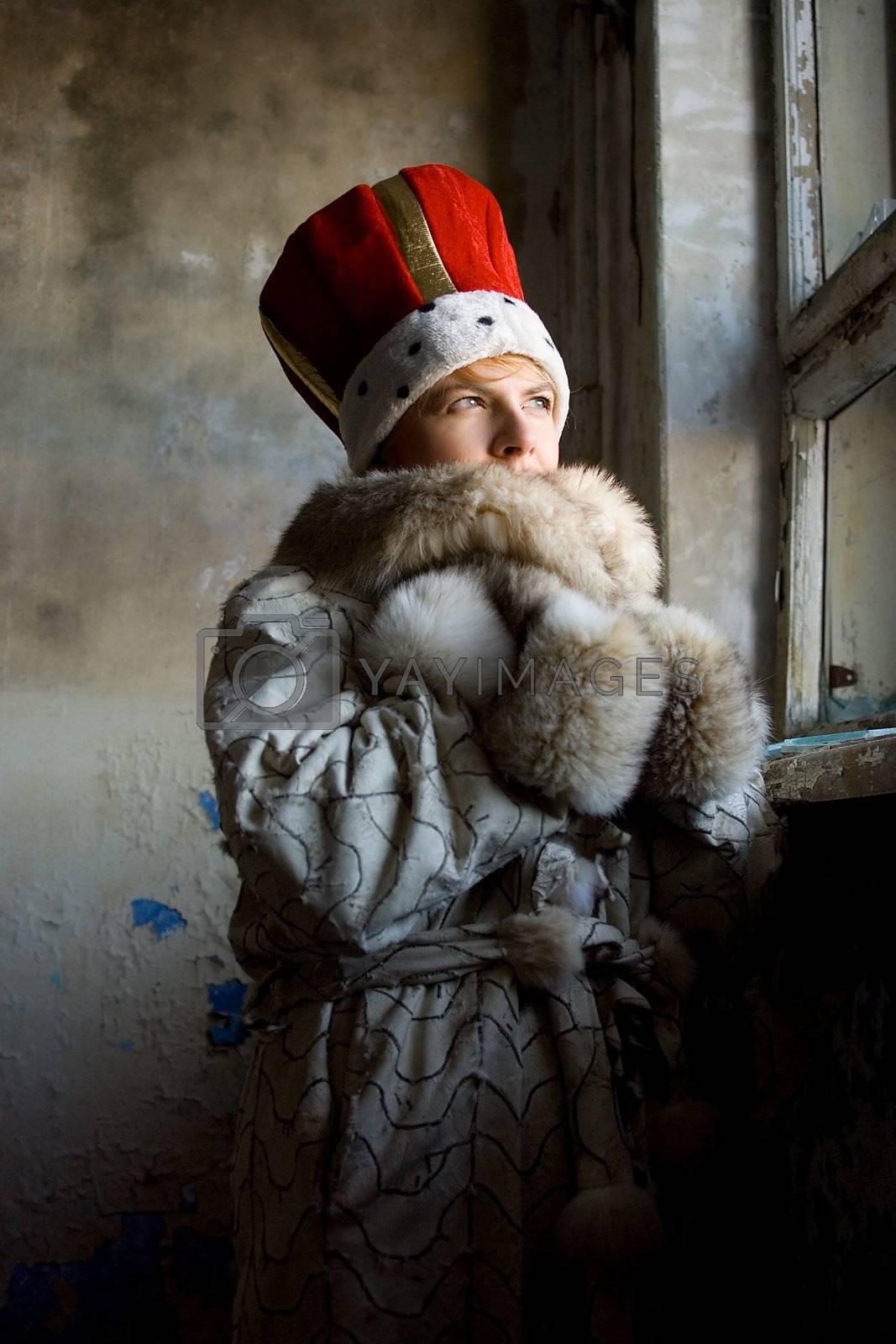 cold winter portrait