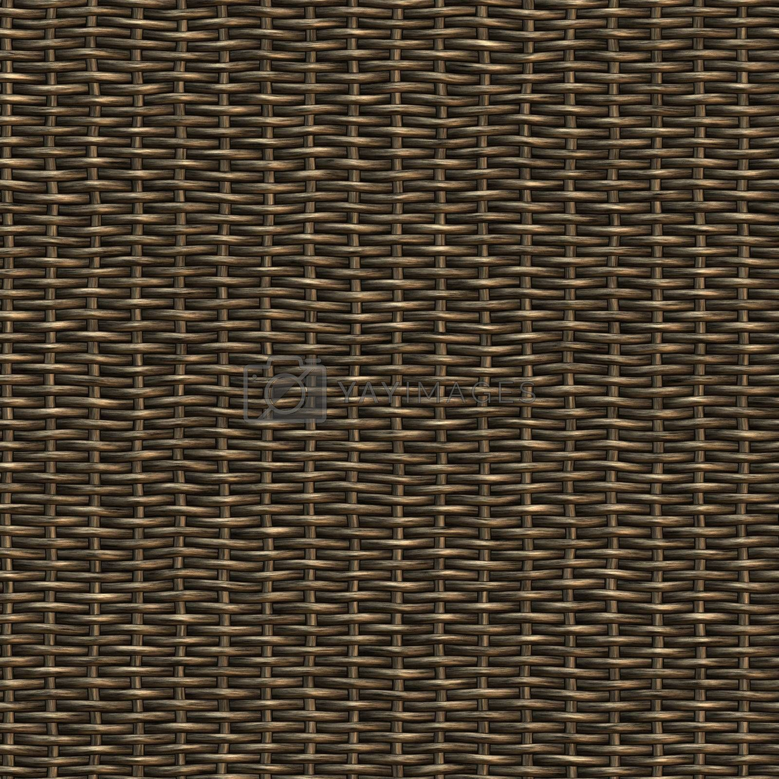 wicker basket weaving pattern, seamless texture for background