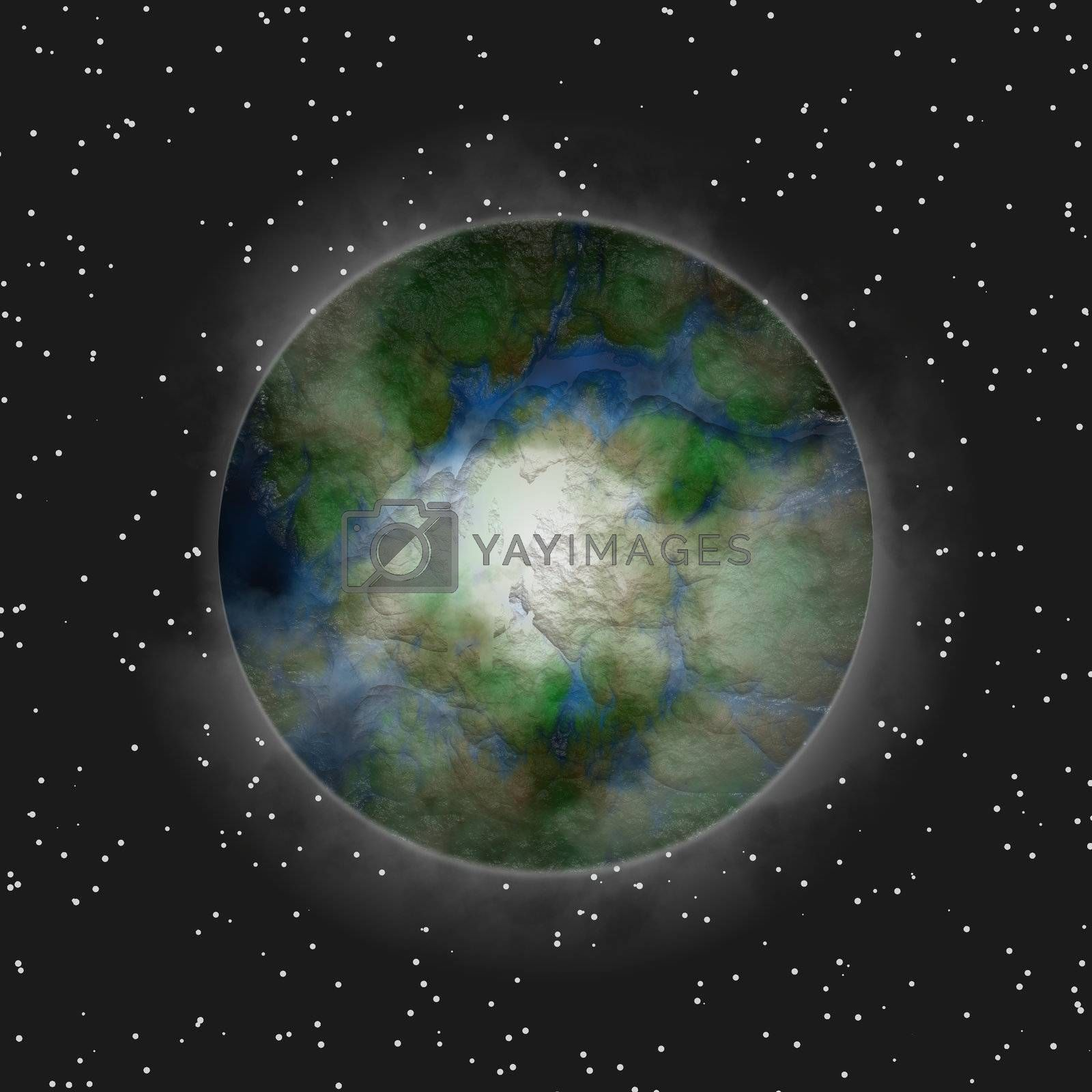 3d rendered planet, great as design element, over a black background, global warming concept